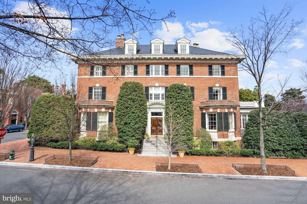 Considered one of the most prominent private residences in Georgetown. It is perfectly sited on historic N Street in the exclusive East Village. This stunning residence with magnificent scale and proportions includes five levels totaling 13,400 finished square feet, major entertaining areas, 8 bedrooms, 10 full baths, 2 powder rooms, ELEVATOR, a 60-foot indoor Bromide lap pool, lovely private garden, private balconies and parking. It is perfect for large scale entertaining with spacious public rooms and wonderful flow. It also easily accommodates a large family with multiple guests and staff. The master suite encompasses an entire floor with an elegant reception area, his and her baths and dressing rooms, and an extraordinary paneled library - all with elevator access. The guest rooms are large and luxurious. Everything is light-filled, including the gym with views of the Potomac River and Georgetown. Among the house~s countless attributes is its originality. Since its evolution differs from the basic models of Federal and Victorian architecture, it has a singular look and layout without losing any of its classic and traditional feel. The Edes House was built in 1907 and was dedicated under a special act of Congress as a home for Georgetown widows. This fine example of Colonial Revival architecture was painstakingly restored as a spacious and elegant single family home and featured as the 1998 Decorators~ Show House.  Purchased by the current owners, the house was re-designed and re-renovated by Thomas Pheasant to the highest level of finish and comfort. Since then it has been perfectly maintained and continuously updated, making it as fresh and current as it was after this 4-year renovation. I have attempted to put all of the house details into the MLS, but there is so much more. For example, each floor has a large, wonderful landing giving a sense of opulence to each level. The moldings and paneling are extensive and exceptionally tasteful. All of the windows are 