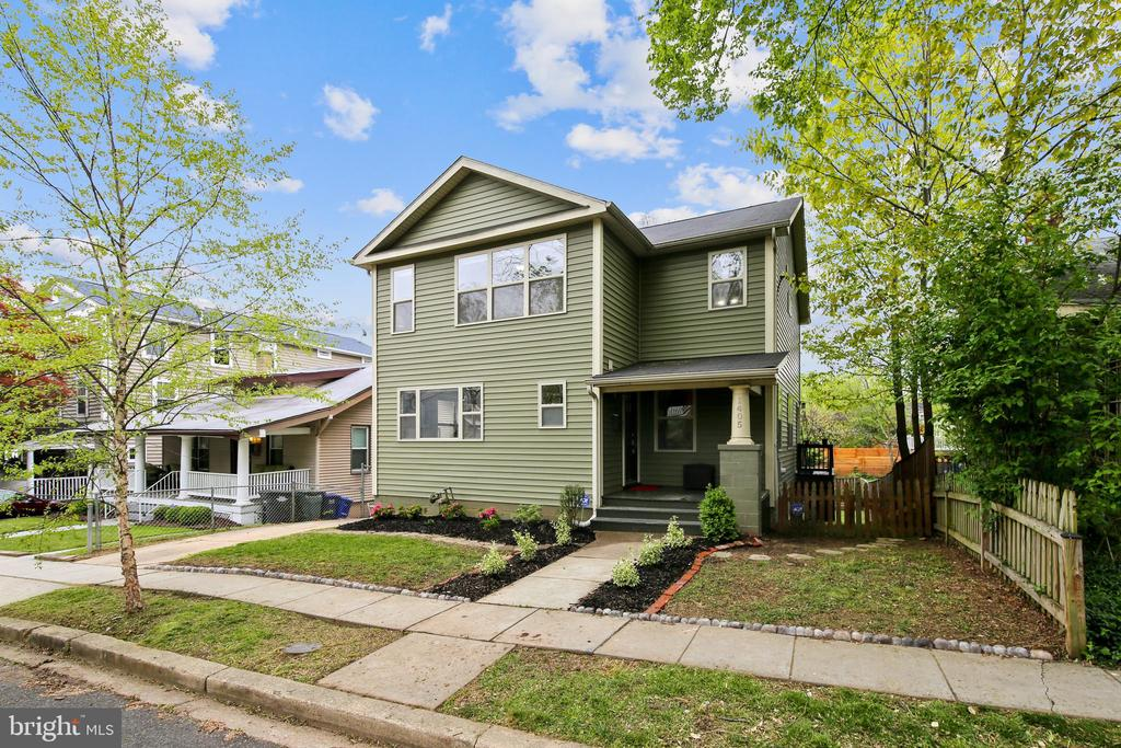 Offer deadline Tuesday 5/5/2020 at 5:00pm. Welcome to 1405 Kearny Street NE, in the heart of charming Brookland! This craftsman style home was built from the ground up by Ditto in 2011. Tasteful cosmetic updates throughout. Hardwood floors in the open and sunny living area, granite counters, stainless steel appliances and a full, walk-out basement. Dining area with room for the entire family. A first floor master suite with a full bath, in addition a second floor master suite with a walk-in tub and dual vanity. Custom lighting, designer tiles and finishes, fresh flooring and new hot water heater. Large, fenced in yard and rear deck perfect for entertaining your family and pets. Off street parking/driveway that will accommodate several vehicles.Virtual tour online, contact agent for additional videos.