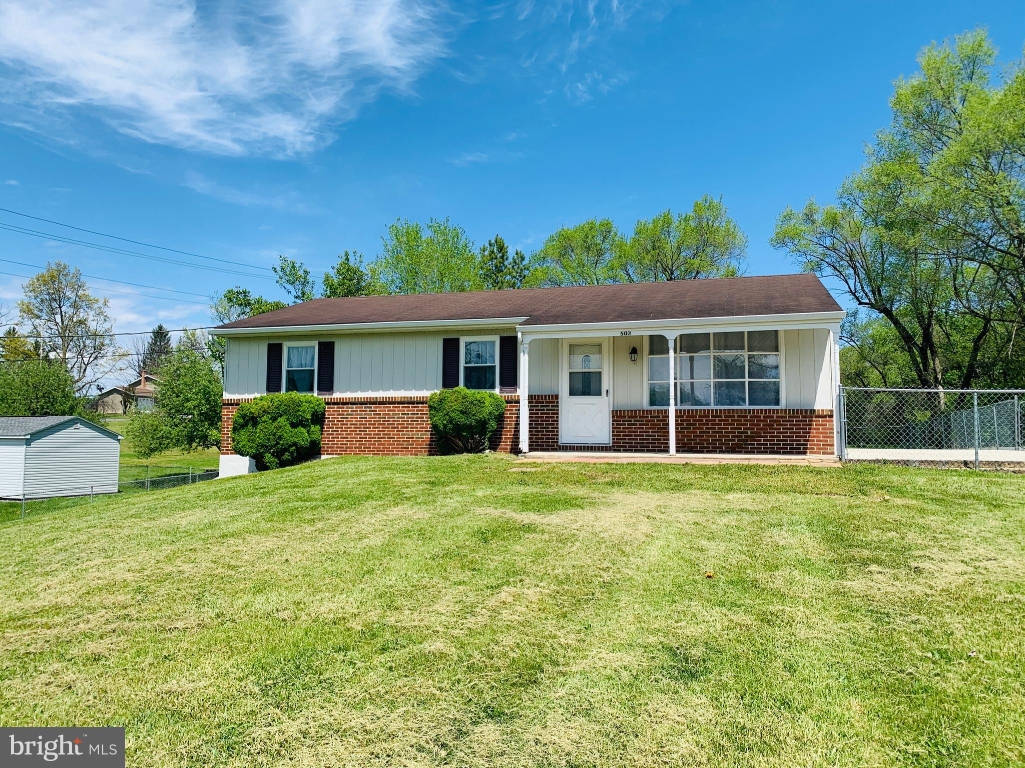 Ranch style home located near downtown Martinsburg features 4 BRs, 2 FBs, fully finished basement with fresh paint and flooring. Seller offering a Home Warranty.