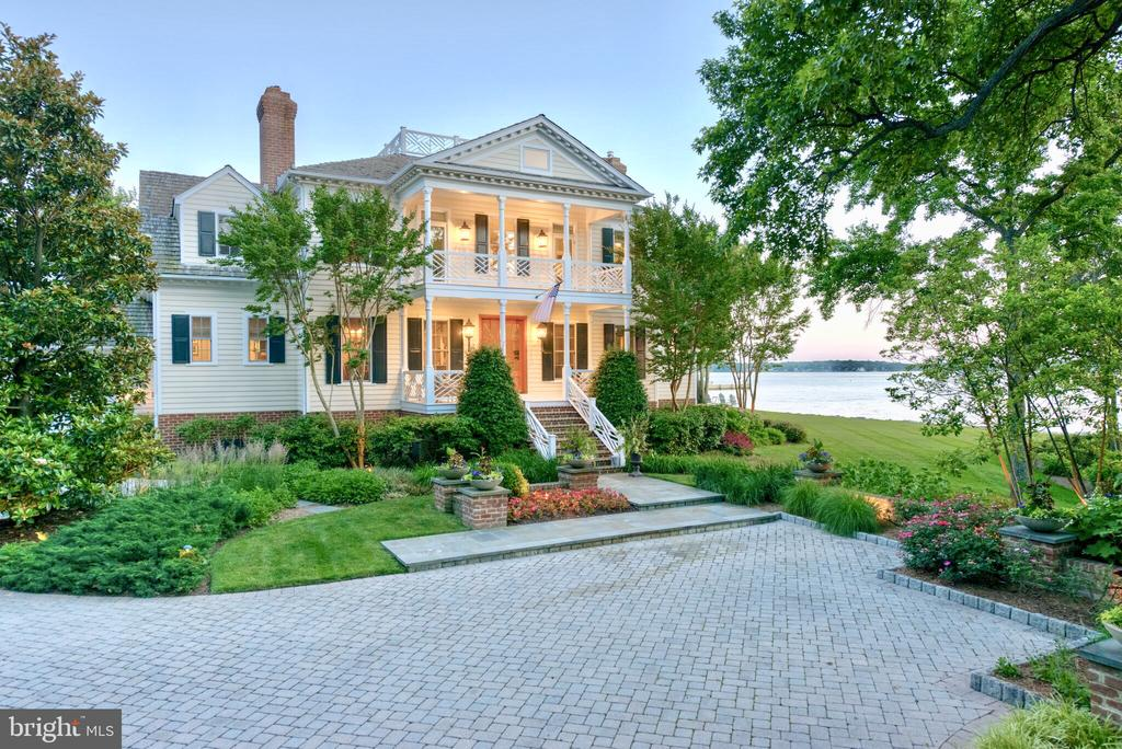 """RARE OPPORTUNITY TO OWN ONE OF THE FINEST WATERFRONT ESTATES IN ANNAPOLIS. GRACIOUSLY  SITED  ON .94 ACRES  TO MAXIMIZE THE SUNSET VIEWS, THIS  PRIVATE AND SECLUDED  5 BR, 4.5 BATH ESTATE HOME  IS A """"TEN!""""  YOU WILL LOVE THE AWARD WINNING INFINITY EDGE POOL, SPA, OUTDOOR KITCHEN & STONE FIREPLACE.  200 ' OF RIP RAPPED SHORELINE WITH UNOBSTRUCTED VIEWS OF THE SOUTH RIVER.  AMAZING SUNSETS.  APPROXIMATELY $1 MILLION IN IMPROVEMENTS SINCE 2005, INCLUDING A BRAND NEW ROOF & EXQUISITE NEW BATHS. GOURMET KITCHEN, DRAMATIC """"STEP DOWN"""" GREAT ROOM W/ A WALL OF WINDOWS WITH  AUTOMATIC REMOTE CONTROL  SHADES & A BRICK FIREPLACE.  FORMAL LIVING & DINING ROOMS W/ FIREPLACES,  AND TASTEFULLY APPOINTED CUSTOM MOLDINGS & TRIM.  EXTENSIVE NIGHT LIGHTING & HARDSCAPE.  BEAUTIFULLY  LANDSCAPED W/ AN UNDERGROUND SPRINKLER SYSTEM AND  COLOR BLOOMING EVERYWHERE.  COZY OWNERS SUITE W/ SITTING RM W/ WOOD STOVE, 3 WALK IN CLOSETS, AND FABULOUS RENOVATED CUSTOM FULL BATH.  JUST A FEW STEPS UP TAKES YOU TO  5TH BEDROOM OVER THE GARAGE, WHICH  COULD BE THE PERFECT  NANNY OR INLAW SUITE!  BRICK PATIO & VERANDA OVERLOOKS THE PEACEFUL  & TRANQUIL WATERFRONT SETTING. OVER SIZED TWO CAR GARAGE W/ PAVER DRIVEWAY WITH EXTRA ROOM FOR 5/6 CARS.  NO EXPENSE SPARED OR DETAIL OVERLOOKED...THIS HOME TRULY HAS IT ALL.  AN ENTERTAINERS  & NATURE LOVERS DREAM HOME...WATCH THE SWANS PLAY.  IDEALLY LOCATED IN A HIGHLY SOUGHT AFTER COMMUNITY OF FINE HOMES JUST MINUTES TO DOWNTOWN HISTORIC ANNAPOLIS & MAJOR COMMUTING ROUTES. COMMUNITY OFFERS WATERSIDE POOL, MARINA W/ SLIPS & BOAT RAMP, & TENNIS/PICKLEBALL  COURT, CLUBHOUSE  & BEACH.  SEE VISUAL TOUR:  https://view.paradym.com/idx/1208-Southbreeze-Lane-Annapolis-MD-21403/2157636  COME AND ENJOY THE LAND OF PLEASANT LIVING!SHOWN BY APPT ONLY....PRE APPROVAL OR PROOF OF CASH REQUIRED."""