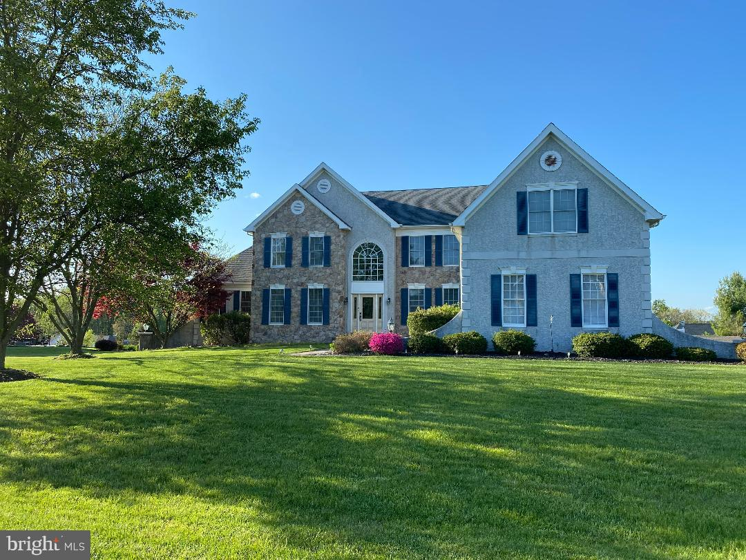 A Beautiful stone colonial in a wonderful Hockessin community.  Built by famous builder Toll Brothers, about 6500 sqft, sits on 0.7 acre cul-de-sac lot. 4-5 large bedrooms, Marvelous Sun room on first floor, office with built in maple bookcases, 4.1 bath, 3-car attached garage. Grand 2-story foyer with turned oak staircase. Beautiful living room adjoins a beautiful sun room. Formal large dining room. Wonderful kitchen  with stainless steel double ovens, dishwasher, beautiful large center island. Corian counter tops. Huge walk-in kitchen pantry. Magnificent 2 story family room with 3 large beautiful circle tops windows, stone face up to ceiling beautiful fireplace, back staircase. Luxury master bedroom suite with a separate sitting room, 2 beautiful deco columns. Elegant 4 piece master bathrooms with large shower, garden tub, double vanities, upgrade ceramic tiles. Large Price/princess or in-law suite has own private full bath. Jack and Jill bathroom adds more convenient usage. Lots of beautiful triple crown moldings through out entire house.  Library on 1st floor. Finished walkout basement with large recreation room, bar area, full bath, 5 th bedroom etc. Wonderful maintenance free huge deck. Beautiful landscaping. Enjoy marvelous view on deck. Bright and airy floor plan and much more... Hurry to see and  bring offers now!!