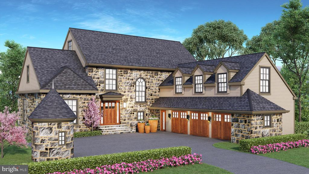 Delivery Summer 2020. Here is your chance to customize your dream home in Gladwyne with option to purchase an adjacent 1 acre subdivided buildable lot to create the compound of your dreams. This stunning stone colonial is in the process of being completed (exterior is now fully complete, interior is underway) and can be delivered seamlessly to your preferences in 90 days or less. Local acclaimed architect Fred Bissinger designed this beauty which  sits on 1 bucolic flat acre surrounded by an additional 3 acres of your own private preservation land with room for a pool. Incredible location minutes to 76, Septa R-5, Suburban Square, schools, shops and across from one of the nicest public parks in Lower Merion Twp.  Throughout the 3 levels you will find: High end designer finishes including a stunning modern Porcelanosa Kitchen, 5-6 bedrooms with 5 full and 2 half baths, soaring 9 foot+ ceilings on all 3 levels, On-site finished hardwood floors throughout (select your desired color), oversized Pella windows, 3 car oversized garage, Full Stone front and Hardi Plank siding/trim, Walk-out lower garden level with abundant windows on 3 sides and double French doors leading to the serene rear yard. Other features include Family Room with fireplace, multiple outdoor entertaining areas, room for a pool,  Master Suite with vaulted ceilings, Radiant heat floors in master bath, 5 oversized bedrooms with walk-in closets, Rear staircase,  Architectural Series Certainteed 50 year roof, Mudroom with radiant heat floors. Exceptional outdoor living spaces overlooking a picturesque setting off the Dining, Breakfast/Kitchen, Family Room and lower level.