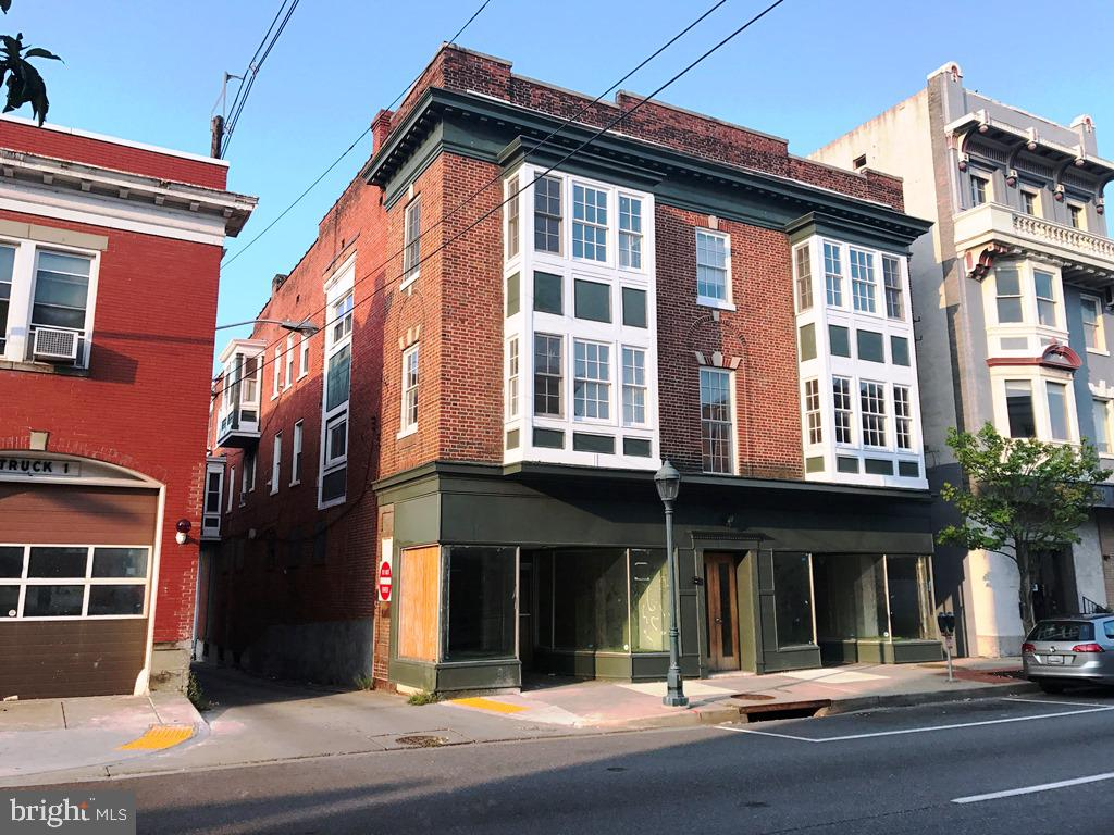 RG Realty is pleased to present a truly unique commercial investment opportunity in Hagerstown, 25-27 W Franklin St. Three story, brick mix use commercial building consisting of 11,277 Sq.f (above grade) located in heart of Downtown Business District, the property is convenient to all amenities including parks, public parking, shopping and a variety of local restaurants, Zoned CCMU which allows for a wide range of potential uses. The building is comprised of 10 Units, 8 apartments, including (6) two-bedrooms and (1) three-bedrooms (1) one- bedroom and two retail storefront commercial spaces up to 4800 sf. Off street parking is available. The retail units are located on the main level with great visibility and good foot traffic. Upside value add completing the renovations to one of the retail commercial units (blueprints available) don~t miss this opportunity to become part of the thriving Main Street business community in Hagerstown.