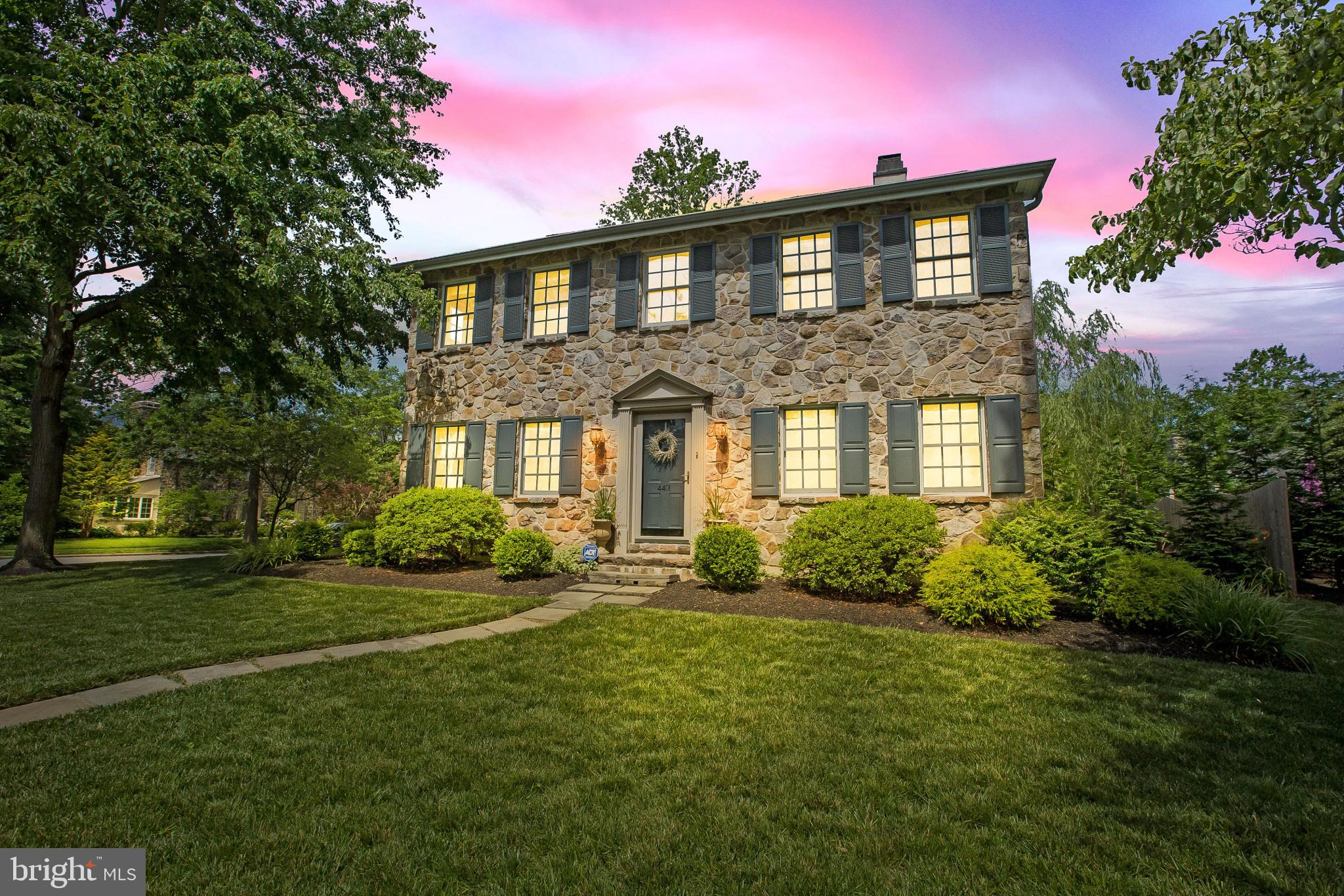 Extraordinary home on Emerson Rd.! Welcome to Brandywine Hills, a picturesque community of winding sidewalks, tall lamp posts and mature-aged trees, and is bordered by Matson Run Park, steps away from Delaware Greenway Trails which connects to Can-do Playground, and 2 blocks from Rockwood Park and Museum. Plus, easy access to I-95, 10 mins. to City of Wilm./Amtrak Train Station and 25 mins. to Phil. Airport. Premium location, park-like setting! Landscaped beds and manicured lawn envelopes this stately stone-front accented with Williamsburg blue shutters 4 B/2.5 bath home, while its positioning on coveted corner lot offers sweeping views of serene streets. Home~s updates include new hardwood floors in FR/Bath (2020) renovated master bath/painted shutters/front door (2019) new sump pump/carpet in guest/master BR/office/new glass slider/seamless caulk between exterior stucco/stone (2018) new subway backsplash/painted kitchen cabinets/new privacy fence, pavers and stairs off FR (2017) new side patio/custom built-ins/ceiling fans (2016) new landscaping, paint, blinds and more (2015/4). Step inside of golden hardwood floors in volume-ceiling foyer with overlook. Almond-hued color paint makes home lighter and airier, and wide hall ahead easily houses sofa table and looks through home to back glass-pane door. To right is nice-size LR that is inviting and guest-friendly. Paint color shifts to mocha color with extra-wide crown molding accent. Striking and savvy 2-sided see-through marble FP beckons all for conversation and cheer, and furniture is placed open to foyer reinforcing no-expiration invitation. To left of foyer is DR with continued hardwoods, here and throughout, and extra-wide crown molding. Its sweet basil color paint is soothing and 2 windows on front/1 window on side walls replicate window placement in LR, creating balance. Simple space, subtle elegance! Stretch of extended countertop in upgraded kitchen serves as coffee/beverage bar, and built-in wine rack abov