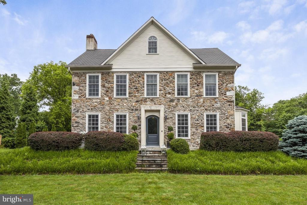 "Unbelievable opportunity to own a piece of historic treasure in the heart of Radnor. 350 Belrose Lane was a parcel of land sold from the original Montgomery / Rand Estate in 1882. The purchaser, Mr. George Righter, built a 3-story stone colonial home & situated it so that the sun rises over the front door & sets over the back of the house. The Righter Family used the property as their country estate traveling to it by way of the Main Line railroad as it is walking distance to Radnor train station. The second owner purchased the house in 1946 & remained in it for 50 years. The third owner renovated & expanded using the finest materials to compliment the original historic architecture in 2007. The current owners are the 4th owner of this property. This 133 year old home beautifully combines the exquisite details of an historic home with the advantage of an updated open floor plan. Spectacular amenities include the original staircase with mahogany and cherry handrail and balusters, 24"" deep windowsills, exquisite custom moldings throughout, divided light Marvin historic series windows , 9'10"" ceilings on the first floor, 4"" wide Brazilian cherry hardwood floors on the first floor. Exceptional formal living room features  spacious and bright room with custom millwork include triple crown molding, original wood burning fireplace with marble surround and hearth and oversized carved wood mantle and ornate carved pediment mantel with dental detail, an antique silver finished pendant chandelier, wall sconces with crystals & recessed lighting. Stunning large formal dining room offers  triple window that allows for natural light to fill this gorgeous room. Triple crown molding , antique silver finished twelve arm chandelier lighting  with restored ceiling medallion & true divided light pocket doors. Custom chef's kitchen with upgraded appliances, wood beams, glass divided light pocket doors, a large pantry, center island, & a very spacious, open and bright family room with gas fireplace that opens to the side yard with expansive deck & steps to a gorgeous patio surrounded by mature landscaping. This wonderful home continues onto the 2nd & 3rd floors with 6 bedrooms & 4 full bathrooms. French doors at the top of the stair open to a luxurious master suite offering his/her outfitted closets by California Closets & sumptuous master bathroom with free standing Kohler soaking tub, Carrera marble shower & double vanity . The master bedroom is wonderfully spacious & bright bedroom with tray ceiling & raised hearth gas fireplace with Carrera marble surround. 3 bedrooms & the laundry room are also on the 2nd floor and are served by 2 hallway full bathrooms.  The 3rd floor offers 2 bedrooms & a large full bathroom. The lower level is partially finished with carpeting, light fixtures, a tv viewing area, bar area and large walk-in storage closet. A 2-car attached garage opens to the lower level & features an outlet for an electric car. Exterior features include cobblestone & blue stone stairs to an oversized flagstone front porch with steps down to the beautifully landscaped level front grounds & views of the estate, professionally landscaped grounds with mature plantings, Pennsylvania farm stone  facade, composite deck & upgraded patio surrounded by mature landscaping, expansive driveway with inground basketball hoop & lighting, and garage with copper overhang. Old world charm & updated active family living are both served in this exquisite home filled with history. This property provides serenity & seclusion with the convenience of being minutes from major roadways. the airport,  walking proximity to the Radnor train station, 333 Belrose restaurant & the town of Wayne with more restaurants & shops.  Please note that Delaware County is conducting a real estate tax reassessment, effective January 1, 2021. If you have any questions or concerns, please  contact the Delaware County Treasurer's Office or call the Tax Reassessment Hotline at 610-891-5695."