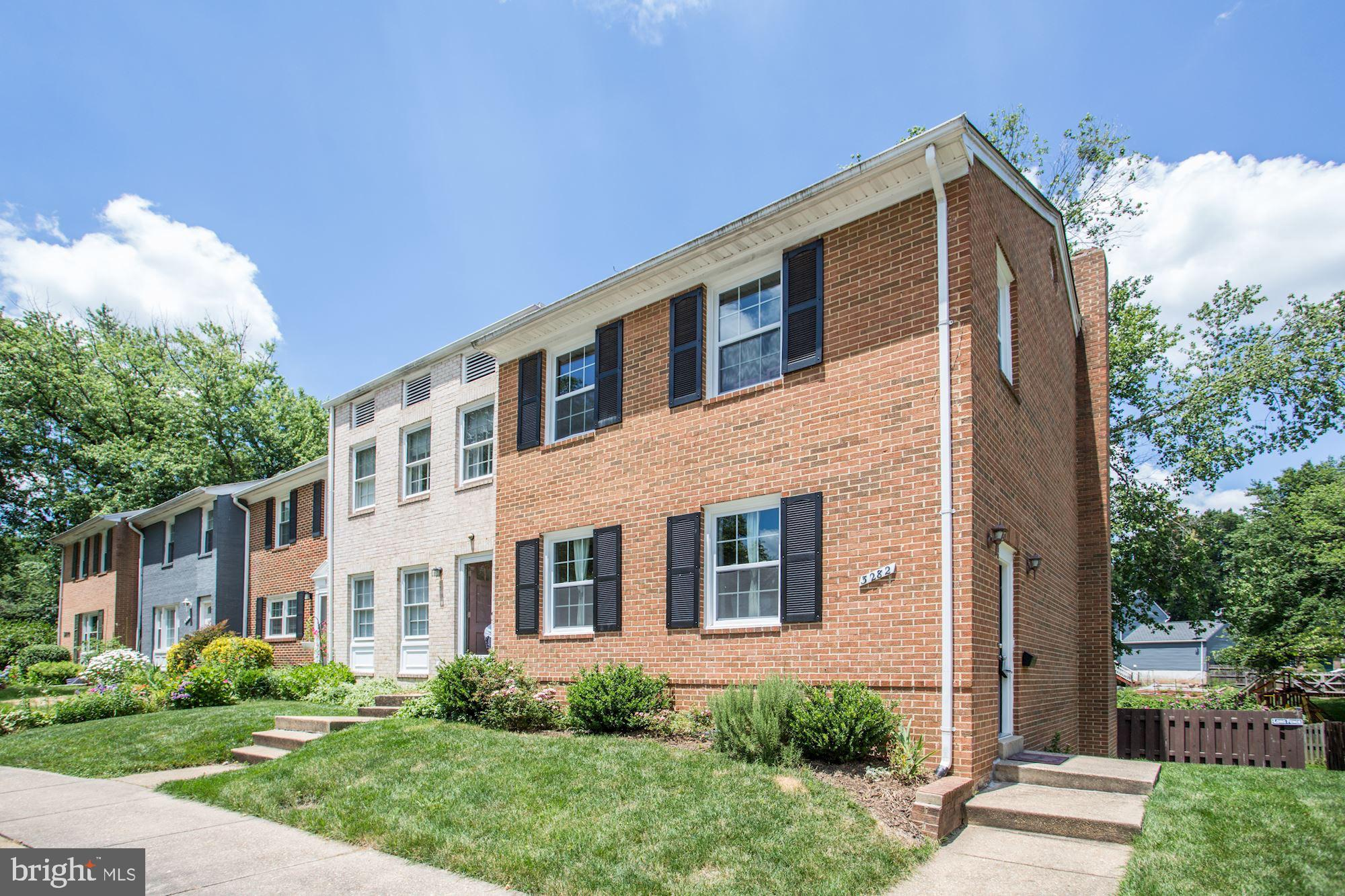 Offer Deadline is Monday July 6 at 3pm. Beautifully updated 3 bedroom, 2.5.5 bath end-unit townhouse backing up to a quiet meadow in Strathmeade Square! Completely renovated in 2018 and freshly painted in 2020, this lovely home is move-in ready. It's all been done so you don't have to do a thing! You'll get to enjoy a sunny living room, formal dining room and nicely updated kitchen with stainless steel appliances, granite counters and breakfast bar with pendant lighting. Upstairs find a master suite along with two more bedrooms sharing a hall bath. Enjoy a lower level rec room with wood burning fireplace that steps out to a rear patio and fully fenced back yard. Easy access to Fairfax Hospital! Moments to trails and tot lots, and Gallows Road, I-495 and all that Mosaic shops, dining and entertainment have to offer!