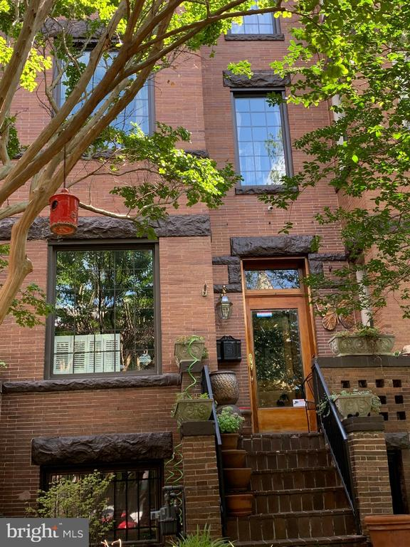 Welcome to this  authentic Wardman brownstone with its exciting blend of old and new. This grand show-stopping  Victorian features a  bayed front and a potential income-generating lower-level apartment in the heart of historic Bloomingdale. Originally built in 1915 and meticulously loved and updated over the years. A gracious living room with lots of windows is perfect for entertaining or just relaxing  and reading. There is a large room  adjacent the living room which is perfect for a parlor for conversation or cards. The over-sized dinning room is impressive and could easily sit your  largest dinner party. There is a half bath on the main level and a lovely deck off the kitchen. From the parlor you may go up to the second level which features a master bedroom suite located on the front with an attached bath. There is a large cedar closet as you go down the hall to the second bedroom with an extremely large hall bathroom.  The top floor features two additional  bedrooms and a very large bathroom with two skylights.  The lower level of the home has served as a family room, in-law suite and office  with meeting space for a least 15 individuals. Currently serving as a family rm/sewing room but has all the essentials   to be an in-law  suite including kitchenette with a front and rear entrance or convert to a nice 1 bedroom rental unit. Exterior work including repointing was done years ago and the brick work is beautiful. Close to Red Hen, Bacio Pizzeria, Boundary Store, Tyber Creek Wine Bar, Big Bear Cafe, and more. All modes of public transportation are only steps away. Follow the instructions of COVID-19, CDE; Wear masks, protective gear, limit touching. 3 people at a time with social distance. No children.  Shoe covers provided. Please allow a minimum of 1  hours notice  for showing appointments.