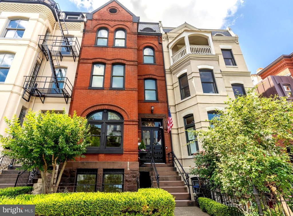 **NEW LISTING! PUBLIC OPEN HOUSE SUNDAY, AUGUST 2, 2:00-4:00PM **  Behind the Historic Turn-of-the-Century facade, 1416 15th Street, NW, is a sophisticated masterpiece on a Grand Scale rarely seen today. Originally built in 1885, this spectacular property has been exquisitely renovated, and now offers 5 spacious bedrooms and 4.5 luxurious baths -- including an oversized 1 bedroom / 1 bath lower level rental unit with C of O!  The expansive, open floorplan is spacious enough for family gatherings, large-scale entertaining, or working from home full-time, if desired.  A large, private deck adjacent to the kitchen, lower-level flagstone terrace and 2-car parking complete this offering.  Ideally located on a deep lot, placed high above 15th Street in the Heart of Wasghinton's Logan Circle neighborhood, with numerous restaurants, fitness centers, shopping & nightlife within easy walking distance, this property offers luxurious city living on a truly grand scale.