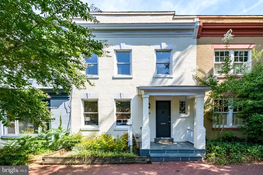 Wonderful, welcoming house in highly desirable West Dupont - the only single family home available in the neighborhood and an extremely rare find for less than $1M. Condo alternative with private patio and no HOA fees! (often $600-$1000+/mo in the area) Neighborhood is a hidden gem - incredibly charming, quiet, leafy street, walking distance to everything - minutes to Georgetown, Rock Creek Park, Dupont Circle, Foggy Bottom, Trader Joe~s, great restaurants, and multiple metro lines.Remodeled with major upgrades - over $40K in recent improvements. Additional bathroom with custom, handmade cabinet and granite countertop (unusual to find a house like this with more than one bathroom). New (2019) A/C and heating systems. New roof (2019). Cheery, open kitchen with beautiful granite countertops.Enclosed patio is a private oasis with ivy-covered brick, planters, and built-in seating - a great place to entertain or relax. Out front is a covered, slate patio and a lovely little garden, in addition to the rose bushes and trees that line the street.Remodel created more living space and storage by replacing the old boiler and intrusive baseboard radiators with energy efficient, low profile heating. Replaced old water heater with new space saving, energy efficient tankless water heater. Custom rollout storage under the stairs. Smart WiFi-controlled recessed LED lights in the ceiling throughout the house (control brightness, color temperature, and turn on/off with your phone). New high-end Samsung dryer. Owner is a classically trained singer (think Julie Andrews) so owners added studio quality sound dampening to end walls of both bedrooms.