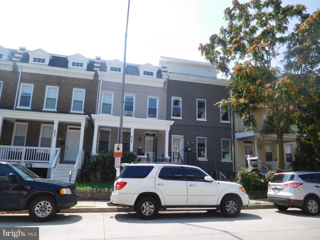 Rowhouse offers three spacious bedrooms,fully finished basement in-law suite with kitchenette and full bathroom, fenced-in backyard, New roof.Close to Children's Hospital, Howard University, Restaurants and Major Bus Routes and Metro. Sold Strictly As-Is.