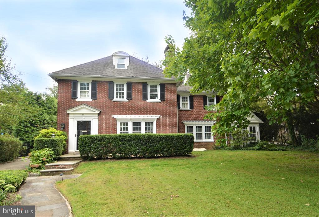 This Stately brick Federal Colonial home is nestled on a beautifully landscaped, level lot in one of Bala Cynwyd's most desired neighborhoods with beautiful tree-lined streets and sidewalks. Featuring 6 bedrooms, 5 1/2 bathrooms, and 4000+ SF of living space this charming home has hardwood floors, lovely architectural details, and amenities.  A private Belgian block lined driveway and flagstone walkway lead to an adorable hedge-lined, front mini courtyard welcoming you from the moment you arrive. Inside the main entrance, the foyer opens to a formal living room accentuated with arched and picture windows and has a glass-enclosed fireplace. The foyer includes a coat closet, an updated powder room, and opens to a large eat-in kitchen featuring granite counters, stainless appliances, a Wolf gas range with electric oven, a Bosch dishwasher, a new French door refrigerator, and new sliding glass doors to the back yard and patio. A back entrance into the mudroom/laundry room is located on the other side of the kitchen along with back stairs to the 2nd floor and access to the 2-car attached garage. The kitchen and living room open to a sun-filled, formal dining room, perfect for daily living and as well as entertaining. The adjacent family room is surrounded with picture windows, built-in cabinetry, and French glass doors that open to a beautiful sunroom with a beadboard ceiling.  The 2nd floor features a private master suite with a large walk-in closet and an updated master bathroom that has a steam shower and double sinks. There are 4 additional bedrooms and 3 updated bathrooms (all with radiant heated floors) located on the 2nd floor.   On the 3rd floor, you will find the 6th bedroom with recreational space, built-in shelves, and a full bathroom with a stall shower. The basement is full, unfinished, and has loads of storage space. Outdoor amenities include a stunning flagstone patio, built-in mini kitchen with a grill and sink, and a lighted pergola that creates an ideal evening ambiance for an intimate gathering or large scale entertaining. The level backyard has plenty of play space and privacy, surrounded by trees and plantings.  Located in the award-winning Lower Merion School District, this home is minutes to Center City,  has great walkability to shops restaurants, public transportation, the Cynwyd Heritage Trail, The Cynwyd Club, and Houses of Worship.