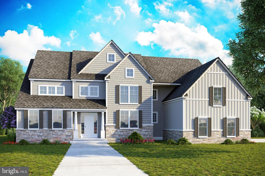 "Welcome to Tennis Pointe of Horsham- Ambler Pa. This desirable community with excellent schools will feature 4 distinctively designed homes on large 1 acre lots surrounded with a country tree setting. Our Largest Sample model will be featured on this lot ""The Bonaventure II"" This home has it all! This home offered ranges in size estimated at 4800+ sq Feet sq. ft. of magnificent living space. Enter the 2-story foyer viewing  front and rear staircases , this model boasts 9 Foot ceilings in first and second floor. The open 2-story family room features a magnificent large gas fireplace with accents and mantle and wall of windows.. and is accented by a second rear staircase. An expansive designer kitchen with 42-inch custom cabinets, Counter Island Breakfast area with all granite, and large pantry connects to a large dining room with Crown moldings and trim including Service butler pantry. Gather formally in the large living room with custom built ins shelving and optional second fireplace. Upstairs, you enter the Owners Suite through double doors to your private retreat with sitting area, with 2 large walk-in closets, tray ceiling and retreat. The spacious Luxury On suite bathroom has a vaulted ceiling, bench seating with dormer, a freestanding tub and separate large stall shower with radiant heated tile floors. Relax in your expansive private sitting area to unwind from a days work at home or office. The remarkably 3 large bedrooms and 3 bathrooms provides extra privacy for family members or guests. Included in our models include: Technology and security package, Private delivery room with separate access point, granite counter tops, hardwood flooring,2 separate offices,3 car side entrance garages, Premium appliances, and more based standard features. Looking for more, choose one of our other lots and we will custom build, modify from your plans or ours. Photos are stock images for viewing purposes only. Taxes subject to assessment at time of closing. Pricing is for Bonaventure II Model.  6-8 month delivery 2021 depending on weather and changes."
