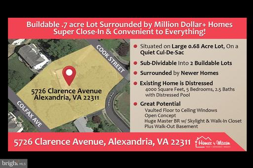 Property for sale at 5726 Clarence Ave, Alexandria,  Virginia 22311