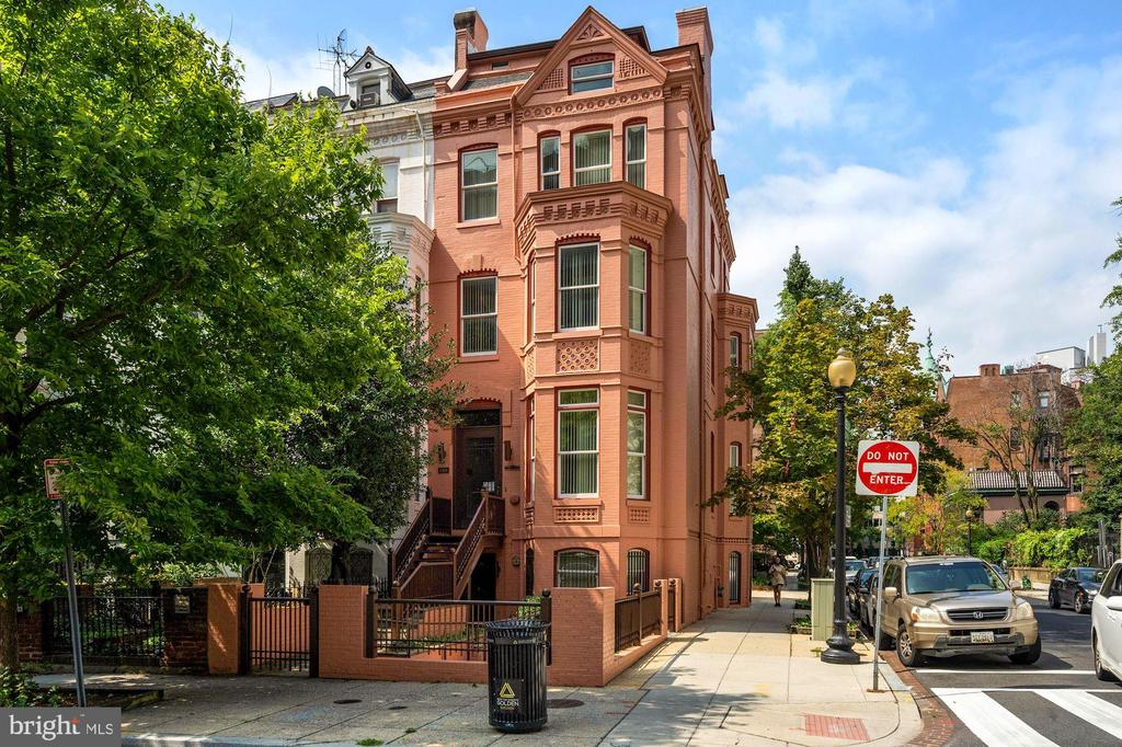 RARE OPPORTUNITY IN THE HEART OF THE GOLDEN TRIANGLE!  Historic  5 story office/ townhouse with parking for 3-4 cars  located on the corner of Sunderland Place.  First time on the market  in 20 years this updated, well maintained  building offers  5 floors of private offices and a handsome modern open staircase.  ELEVATOR, NEW WINDOWS, PLUS 3 BATHROOMS AND 2 KITCHENETTES and SKYLIGHTS.   Recent upgrades include  a convenient handicap accessible entrance.   Imagine having your own office building, medical office or a gallery in the vibrant center of Washington between Dupont Circle and M Streets!  Furnishings also available  ALSO INCLUDES 1390 SF FOR PARKING. .Easy to show.  Please call listing agent for a private appointment.  CDC REQUIREMENTS PLEASE!..