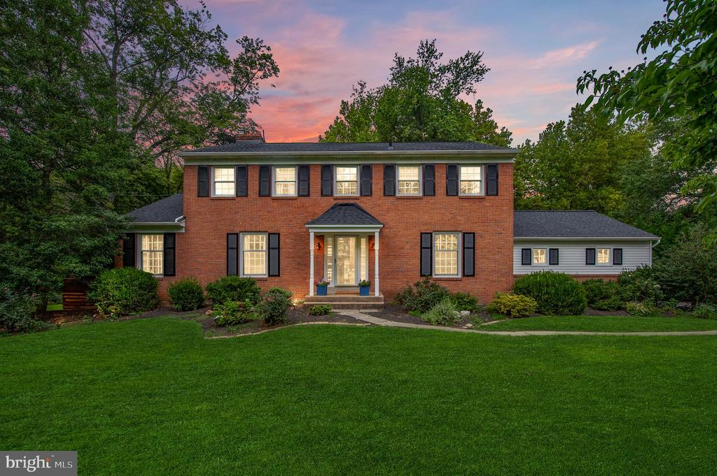 """Please enjoy our 3D virtual tour by clicking on the video icon at the top of the page. Welcome to 759 Richards Road, situated in the highly desirable Glenhardie neighborhood and award-winning T/E school district. This MOVE IN READY home is sure to be enjoyed by its new family for years to come. The beautiful, brick colonial has been recently updated, including a new roof and new siding, 2 year old HVAC, hot water heater, and other mechanicals. Each room is lovingly and professionally designed to today's standards. Enter the spacious foyer with beautiful crown molding and gorgeous, refinished hardwood floors that continue throughout the home. Head through the oversized entryway into the spacious, recently painted living room with fireplace. On the opposite side of the foyer, enjoy dinner with company in the formal dining room. Down the hall, sit fireside in the cozy family room with exposed brick fireplace. The updated kitchen features 42"""" white cabinets, granite countertops, and tile backsplash. Off the kitchen, you'll find a mudroom with exposed brick and 5 cubbies perfect for storing excess belongings away from your living space. A powder room completes the main level. Take the turned staircase upstairs to a primary suite, inclusive of bedroom, dressing area, two closets, and primary bathroom. Three additionals bedrooms share a revonated hall bathroom. The lower level adds a huge area of finished space perfect for an additional living room and/or playroom.  The backyard features a new, maintence-free deck and patio where you'll enjoy a serene setting with spectacular views and a creek meandering by. Within walking distance of Valley Forge Park, close proximity to the King of Prussia Mall, Town Center and downtown Wayne. Easy access to Center City, 76, PA Turnpike, Routes 202 & 422, and commuter rails. * * * Visit the personalized website that we created especially for this home at 759RichardsRoad.listingseller.com to view enhanced professional photography, aerial """