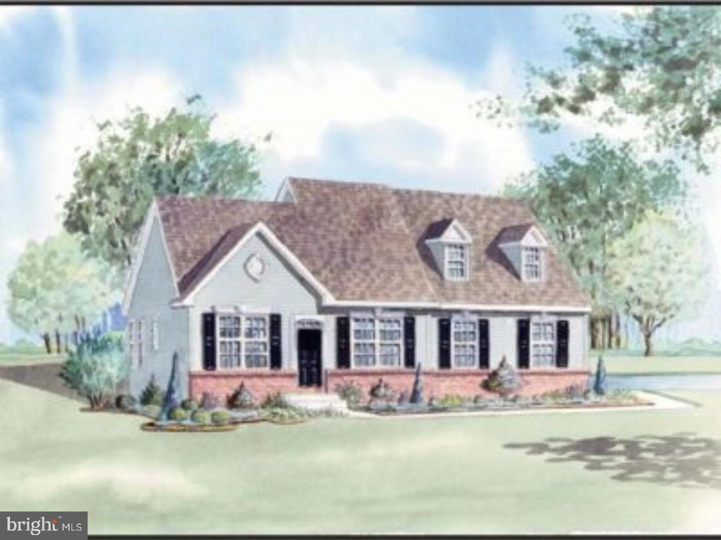 Chesapeake Model- to be built. The Chesapeake model offers first floor living with the option to add space on second floor.  Optional sunroom available.  All home sites are a half acre with public water and sewer. The large kitchen consists of a center breakfast bar and separate dining area. The formal dining room can easily convert to an extra bedroom. With all of the standard features of side entry garages, stone water table, granite counter tops and stainless steel appliances, there is no need to look any further.