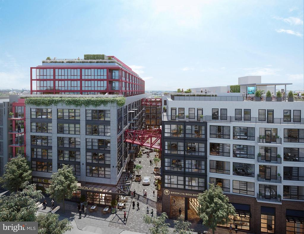 Brand New Construction.  Welcome to 1625 Eckington Pl NE, a new, amenity-rich, pet friendly condominium community in vibrant Eckington.  1625 Eckington is a 12-story, solid steel and concrete constructed building featuring 179 residences with Studios, 1BRs, 2BRs & Penthouses.  Homes boast clean, modern lines; expansive windows with Mecho Shades; sleek finishes including panelized Bosch appliances that match the custom Porcelanosa millwork; wide-plank flooring throughout.  Many homes have spacious and luminous floor plans with outdoor spaces and views of the Monument, Capitol, National Cathedral and the Basilica.  Amenities include:  Daily Concierge; On-Site Building Manager; Penthouse Lounge with Kitchen and Fireplace; Rooftop Fitness Center; Rooftop Pool and Sun Deck; Grilling Stations with bar and prep areas; Lounge and Seating niches overlooking compelling city views; Lobby Level Conference Room with Fireplace.   Union Kitchen, a gourmet grocer, and Brooklyn Boulders, a NY-based rock climbing gym and fitness outlet, are the anchor retailers for the condominium community.  1625 Eckington is a short walk to NoMa Metro.   Unit 719 is a luminous and spacious south facing  2BR/Den/2BA with a private terrace and 1 garage parking space.  Photos are of a furnished south facing 1BR Model--NOT 719.  Delivery slated for Spring 2021.   Hard-Hat Tours are available by Appointment.