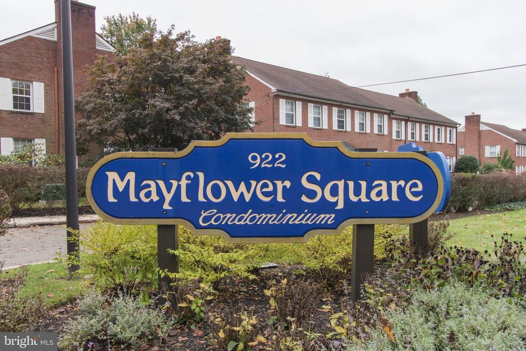 Great investment opportunity in Mayflower Square Condominiums!  This 2 bedroom, 1 bath unit has washer/dryer, garage parking and a permit issued by Lower Merion Township for student housing.  Unit is currently rented and subject to student housing lease until May of 2021.   Great rental history and permit is transferrable to the new owner.  New windows being installed this month for greater efficiency. Beautiful park like setting and very accessible to many schools, public transportation, highways and shopping.