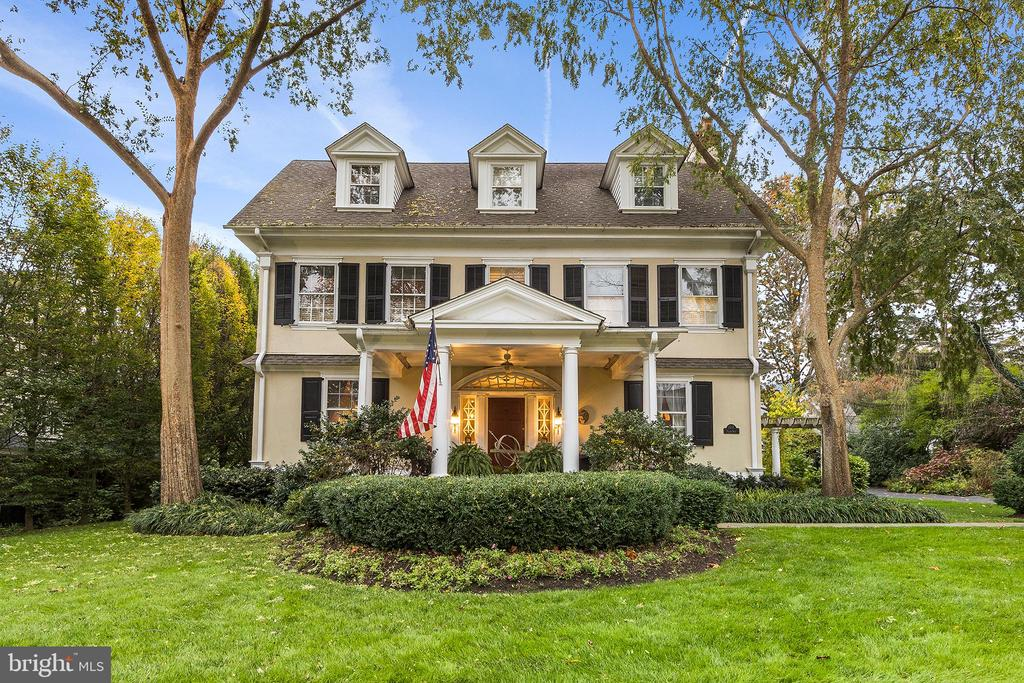 An extraordinary blend of old-world charm, state of the art design, space, and quality finishes, all beautifully executed by architect/owner Mark Fox, a principal in the noted Main Line design-build firm Gardner/Fox. Some of the unique features include a wonderful covered front porch, the open 3-story central stairway, the sunfilled gourmet kitchen open to a truly awesome fireside step down family room adorned with antique beams reclaimed from a Lancaster County barn. The master bedroom suite was thoughtfully designed and features a glorious en-suite bath, h/h walk-in closets, and adjacent laundry room. There are three additional family bedrooms on the 2nd floor, (one currently used as an office) and a remodeled hall bathroom surrounding the second-floor landing, and two large bedrooms and with one full bath on the third level.  All this and more, ideally located in the architecturally diverse and richly historic community of North Ardmore, where you will enjoy walkability and accessibility to Suburban Square, Ardmore, and the Ardmore train station.