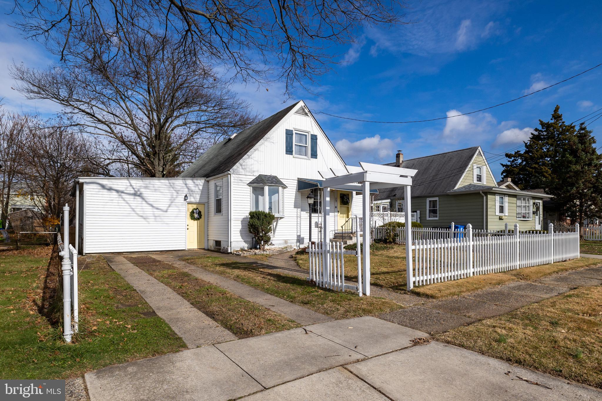 Welcome to 29 W. Broadway in Historic Maple Shade. This adorable Cape Cod is walking distance to bustling Main Street, the heart of downtown.  On the main floor, find the living room, dining room, eat-in kitchen, laundry and family room with a wood-burning stove. From the family room, access the large, fenced backyard with a storage shed. Also, on the main floor, are two bedrooms and the full bath and access to the basement. Upstairs are two more good size bedrooms. New central air conditioning summer 2020 and new furnace November 2020. Freshly painted and new carpet in family room. Hardwood flooring throughout. Don't delay …this one will go fast.