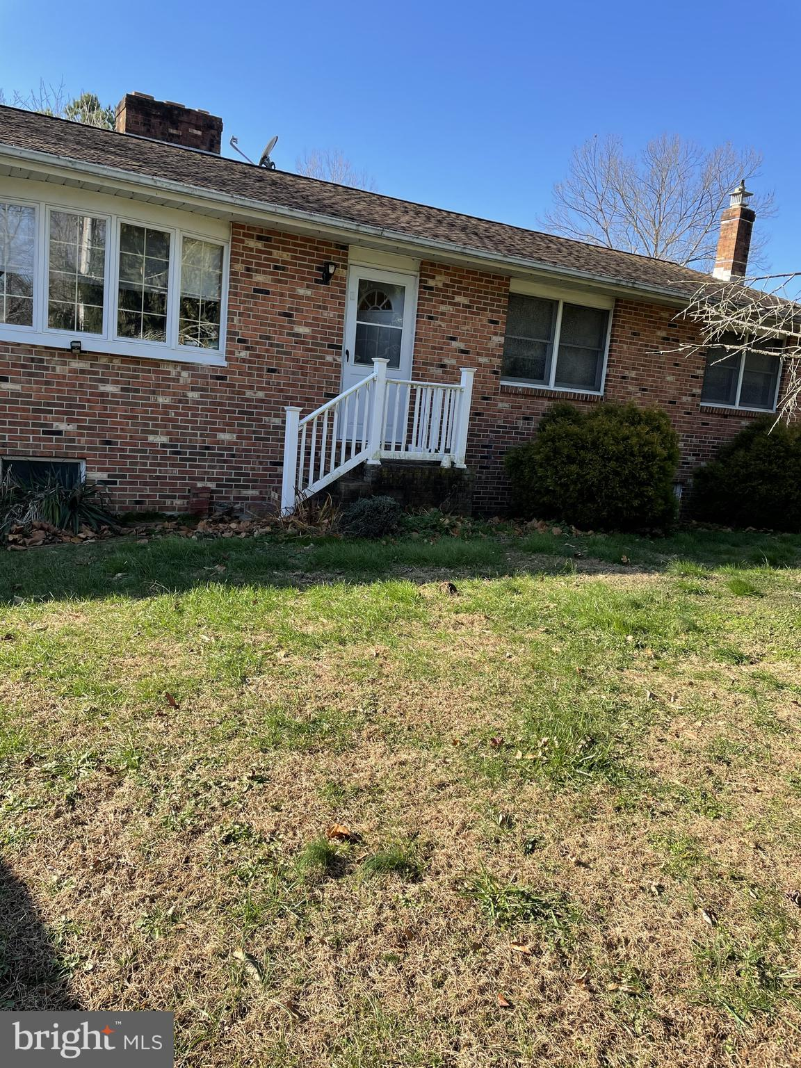 Visit this home virtually: http://www.vht.com/434126260/IDXS - Beautiful country location with brick rancher just awaiting your personal additions.  Two car garage attached to the property was used for a kennel, but it could be returned to garage space or additional living space only limited by your needs. Outside of the kennel is a concrete patio, and a back porch.  Watch the wildlife while enjoying your morning coffee.    The basement is very large and could also be converted to additional living space, workshop, studio, etc.  Many recent upgrades including a french drain, heat/air, and well systems.