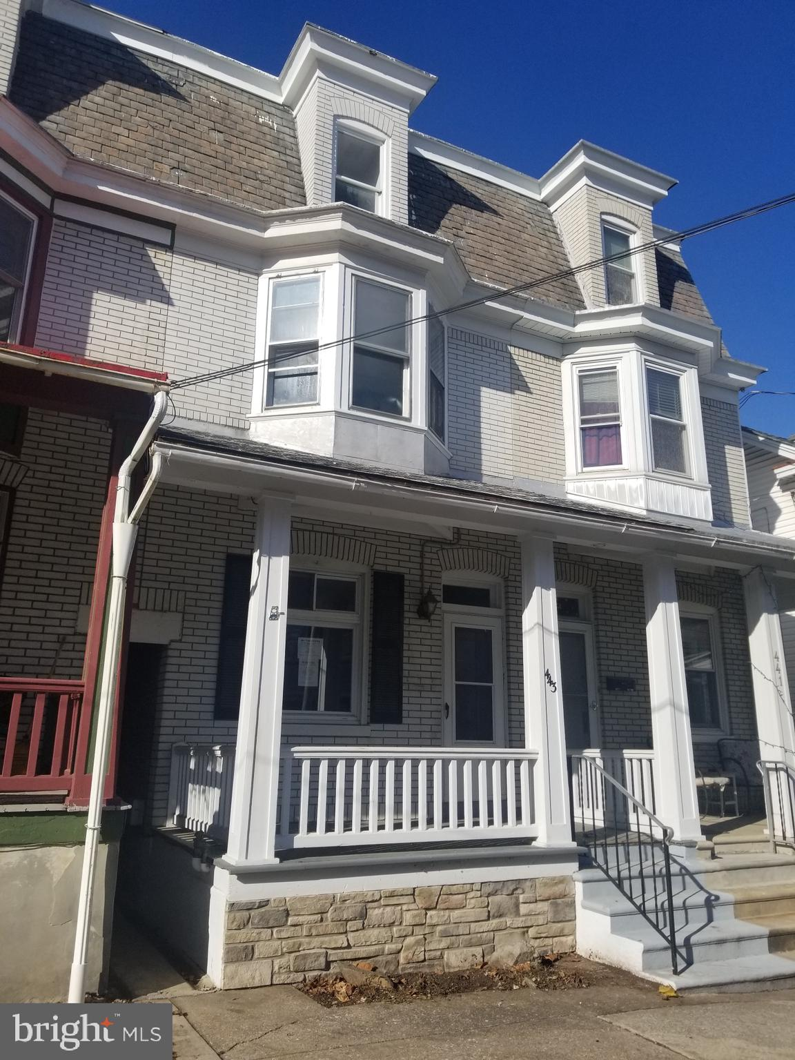 Located within a block of  Kutztown Main St. business district as well as a short walk to Kutztown University!  Great location!  5 bedrooms, some upgrades throughout. Spacious living room, 1st floor laundry, nice yard with off street parking.  Alley in rear of home.   Sold as is.  Bank owned.  HUD case #446-365256. Buyer pays both sides of transfer tax and is also responsible for any required municipality inspections/repairs.