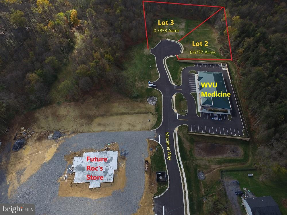 PRIME lots  that are pedestrian  friendly to Shepherdstown! This parcel was part of a 4.44 parcel that recently sold to WVU Medical Center.  This pad is available for mixed use. Also, another adjacent pad is available at an additional cost.  Combining two lots is a possibility and a drive through window may be allowed with approved conditional use permit.  Property appraised. Shepherd University only 5 minutes away! Also, adjacent to ROCs new convenient store.  Tax bill will come out soon.