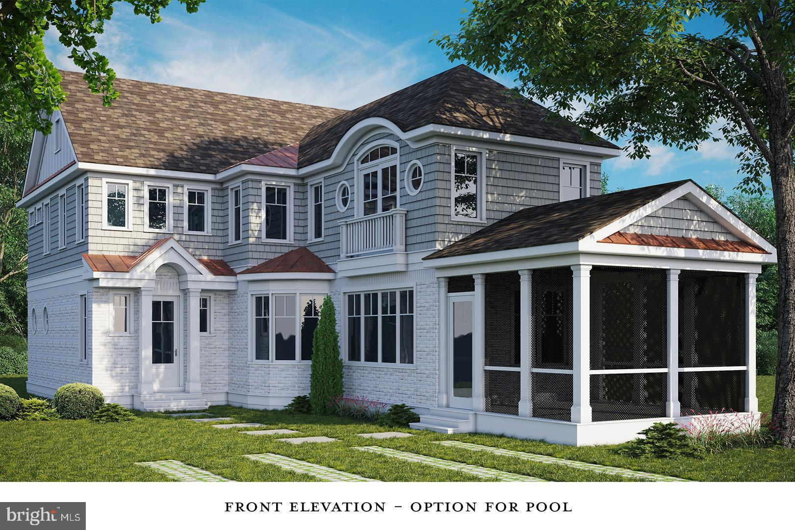 New construction in the ocean block of South Rehoboth! This custom home will include a heated in-ground pool and the ability to customize the floor plan and select your own finishes for a limited time. The proposed plan features 5 bedrooms, 4.5 baths, 2,500+/- square feet, 10 ft ceilings, hardwood floors through-out, gas fireplace, and a light filled open floor plan. The first floor boasts a gourmet kitchen with custom cabinetry, stone counters, large island, Sub-Zero/Wolf appliance package and a beautiful tile backsplash. The spacious 1st floor master features a gorgeous tiled bathroom and walk-in closet. The great room with dining area is flanked by the kitchen and a large screened porch. The exterior features a fenced courtyard that greets you at the entrance and will be beautifully landscaped to create a sanctuary by the pool. Excellent opportunity on one of the most coveted locations in Rehoboth Beach!