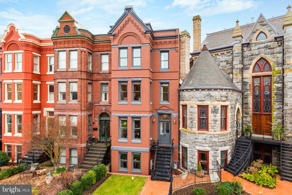 Welcome to 611 Maryland Avenue, NE. This historically preserved Victorian-style rowhome exudes famed Washington, DC elegance, with only the modern house numbers hinting to the striking contemporary design within.   Sited in an unparalleled location just steps to Stanton Park and Capitol Hill, four blocks from Union Station, 611 Maryland Avenue's recent architectural renovation by renowned developer Cooper Carry is perfect in every way.   Gracious entry with high ceilings and custom millwork, exceptional finishes including marble tiled kitchen and baths, highly desired roof deck with gorgeous views, and three custom marble fireplaces. Lower level includes separate exit, kitchenette, and bonus bedroom.   An absolute stunner, ideal for the most discerning clients, this is a must tour.  **FREE PARKING SPACE FOR FIRST YEAR: 12 months of free parking included  in nearby local parking garage for new owner. Inquire with agent.**
