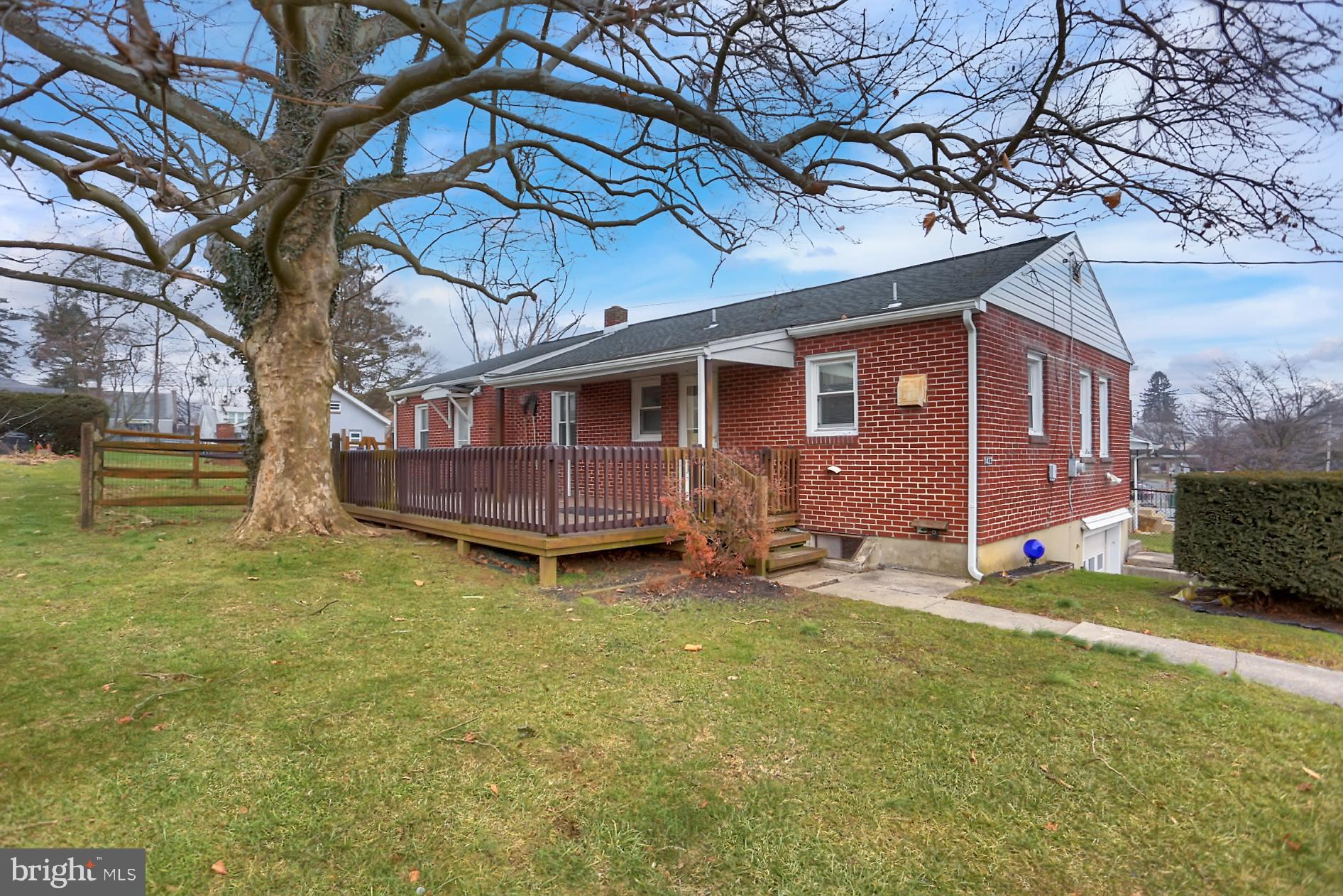 Come take a look at this Lovely Brick Rancher!   Governor Mifflin Schools!  3 bedrooms, 1 bath.  Updated kitchen with all appliances remaining and new flooring!  Updated carpeting throughout!  Spacious living room! 3 private bedrooms.   Basement 1 car garage.  Nice yard, side deck! Great location!