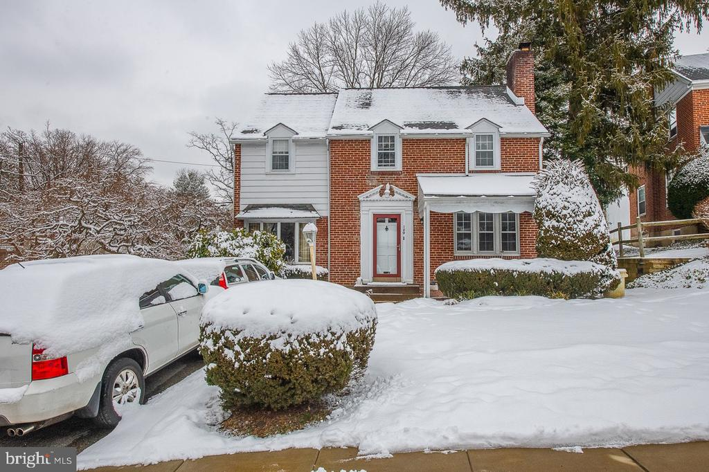 Charming Single Brick house with 1,716 sq, 4 bedrooms and  2 full baths in desirable Lower Merion.  First Floor:  Enter a tiled entryway  to the Living Room  with hardwood floor and a fireplace; To the right of the entry is a small family room with coat closet; to an eat in kitchen with exit to the yard; Formal Dining Room with hardwood floor.  Second Floor:  Master bedroom with master bathroom with shower, 3 other good sized bedrooms , linen closet, and a hallway bathroom with tub.   Walk up floored attic for storage.  Finished dry basement with laundry room.  Gas forced air with central air.  Two car parking driveway.  No garage.  Great private  yard.  Renovate the kitchen and bathrooms to make this a perfect home.   Great location.  Quiet street. Walk to school, library,  parks, and transportation.