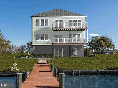 Beautiful contemporary new home to be built on this .72 Acre Waterfront Lot on Main Creek. A perfect location to take in the gorgeous views and Sunsets. Only minutes by boat to The Chesapeake Bay. Existing Pier with great elevation, bulkhead and 6ft water depth. Custom Selections are available providing the Buyer is involved early in the build. Ideal property for someone who has a passion for boating.
