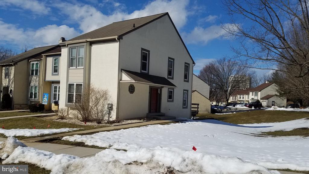 This 2 story End Unit immaculate Townhouse has been exceptionally well maintained by it's original owner. There has never been any pets or children, so it feels like it has been lightly used. You will enter walking up on a new concrete step on it's own foundation, so it can never pull away from the house and then into a nice size foyer with access to the Living room, family room, modern kitchen which gives easy access to the dining room with newer slider to a private deck looking out onto open space. The 2nd floor has 2 large bedrooms and 2 baths. The lower level basement has extra high ceilings and another slider to rear open space. Public bus transportation is only a few steps away and the train is only about a 5 minute drive. Tax free shopping is  about a 15 minute drive.  It is also very close to Tyler Arboretum & Ridley Creek State Park --