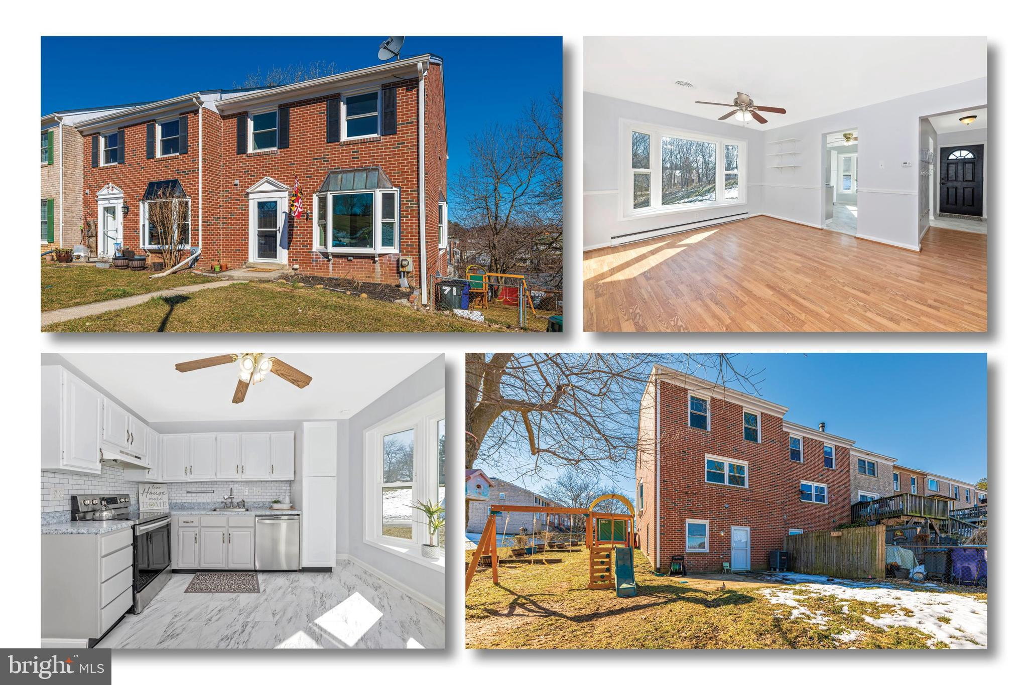 Charming - ALL BRICK - END UNIT - townhome, updated and ready for your personal touches.   Fresh paint with updated flooring throughout.  New roof ('19), Exterior doors ('18), HVAC ('14), Vinyl windows ('15), Water heater ('15), Fridge & Freezer ('15), Dishwasher ('19) and Stove ('20).  Fenced rear with swing set.   Oversized rear and side yards.  Sought after Middletown Schools.  In the heart of the town.  Walking distance to everything....