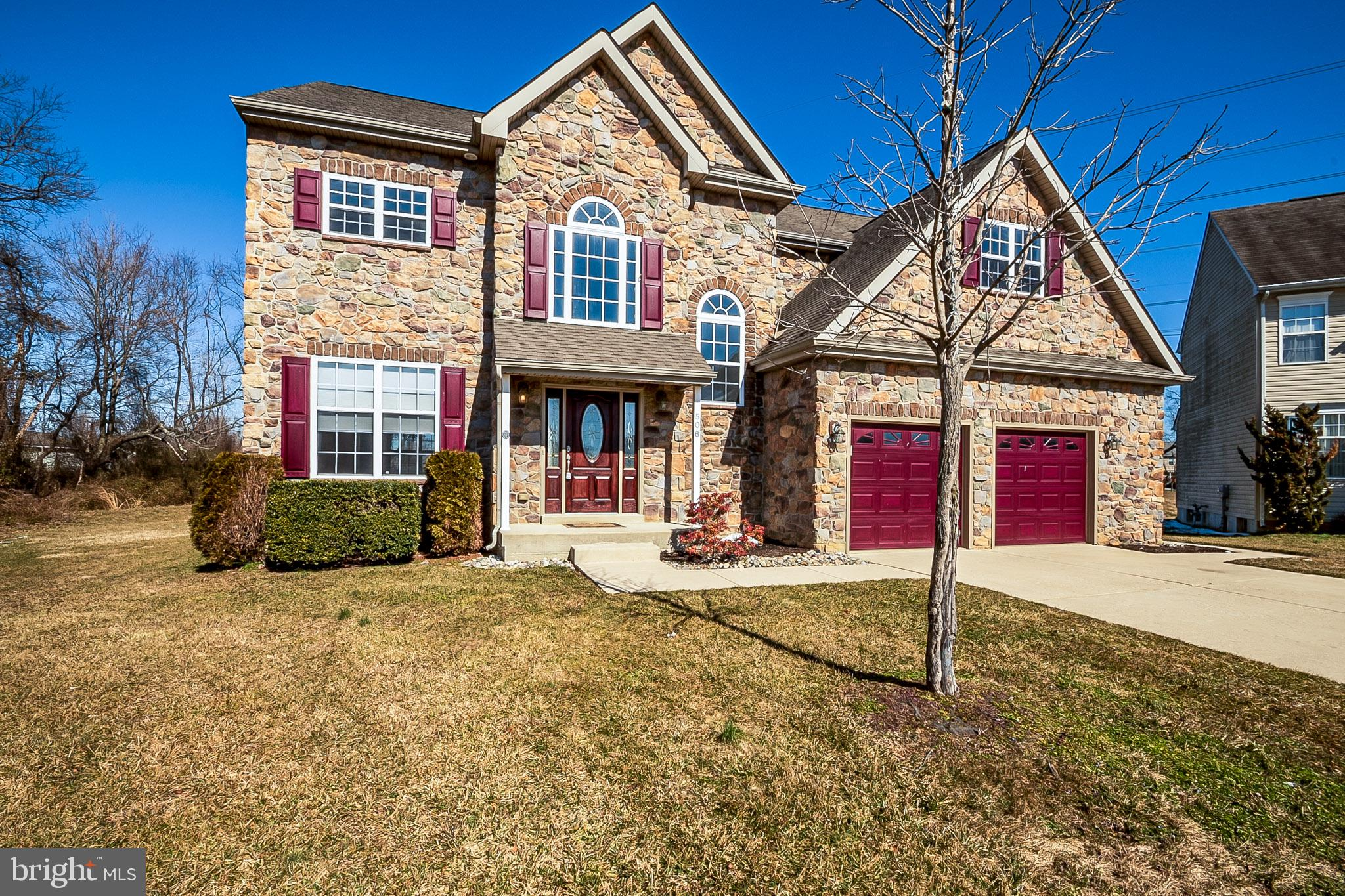 """One of a Kind, Custom Built Home , largest home in Wynnefield Hunt.  You will not find a comparable home in this quiet neighborhood just off of route 40. Over sized lot on cul-de-sac. Open concept kitchen, granite countertops, 42"""" cabinets, pantry,  stainless appliances,  HUGE family room with fireplace, finished basement with walk out, second floor laundry, high efficiency HVAC, tankless hot water heater, oversized bedrooms, custom accents, 31' x 12' maintenance free Trex deck with stairs to grade, Brazilian Cherry hardwood floors, completely floored A-frame attic all wrapped into one! Vaulted ceilings in the master bedroom give way to a beautiful master bath equipped with whirl pool tub, shower and dual vanities. 3 more generously sized bedrooms, additional full bath with dual vanities round out the second floor.   Attached two car garage with power doors, poured concrete driveway and stunning stone façade. This house has everything you could ask for and more,"""