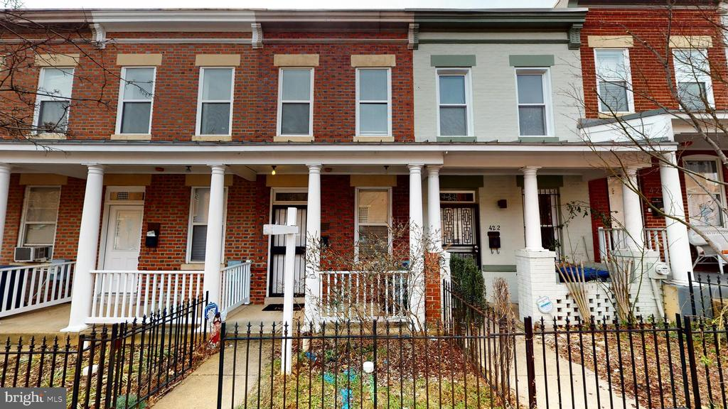 Do not miss this delightful rowhouse property in one of the historical areas in Washington DC!  It is the perfect city home in the LeDroit Park area which is near parks, downtown DC, the historical U Street restaurant corridor and the historical Howard University Hospital.   This all-brick home will immediately welcome you to sip and relax on the front porch for those nice Spring, Summer and Autumn days.  Or create the perfect garden in the back yard entered from the kitchen.  This 2-bedroom, 1.5-bathroom has everything needed to call this cozy place home.  Yet there is still room to add dazzling touches to make this gem shine like a diamond.  The water heater & HVAC all replaced recently. Come soon and make this place your home!