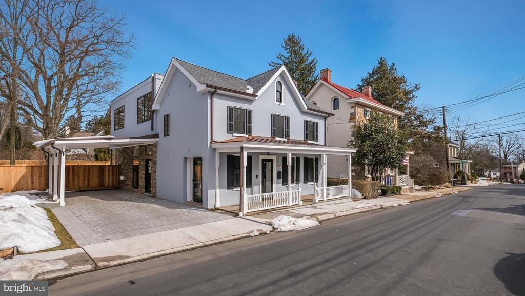 PRIME Borough location. New York loft meets historic home.  Total rebuild and spectacular addition in 2020. This  is a one of a kind home in an unbeatable location. While the charming historic part of the house has been preserved, everything inside has been updated and a large, modern living space added to meet the most discerning buyer's needs. All new mechanicals, plumbing, roof and electric. Four gorgeous, full bathrooms. Gourmet kitchen with enormous island and an excess of cabinet space. Modern, bright and airy great room with oversized windows and sliding door to the spacious, professionally landscaped and fully fenced backyard. Real wow factor. Flexible space on the first floor could act as an extra sitting room, formal dining room or office with a full bathroom next door.  Upstairs are three generous bedrooms and two full bathrooms. The modern main bedroom is an oasis with balcony, walk in closet and a fabulous spa like bathroom with walk in shower and soaking tub.  The laundry is on the bedroom floor for maximum convenience. A finished basement with full bathroom provides more flexible space - great for a kids playroom or adult relaxation room or gym. Customize the available space to meet your individual needs.  Stroll anywhere in Doylestown from this amazing location and enjoy all that this vibrant town has to offer. This home really is a must see.