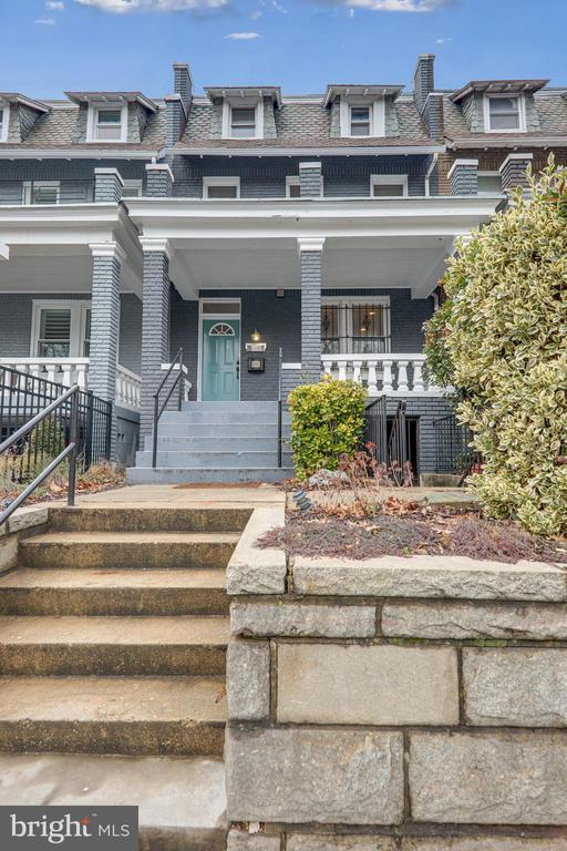 """ Welcome to 2216 N. Capitol St, NW, a spacious and well-renovated Wardman style rowhome in desirable LeDroit Park. This three level home is set up as two legal units: a large 3 bedroom, 2.5 bath upper home and a fully separate legal English basement 1 bedroom, 1 bath with good light from the rear and full height ceilings. The upper unit has just been refurbished to include new baths, refinished hardwoods throughout, fireplace, a loft above the master bedroom, and a large deck off the kitchen. There is two car parking off street parking, good closet space, and a great layout. Both units feature their own washer/dryer, and both kitchens are modern and fully equipped. Lower level rented month to month at $1490 including water but pays electric separately."