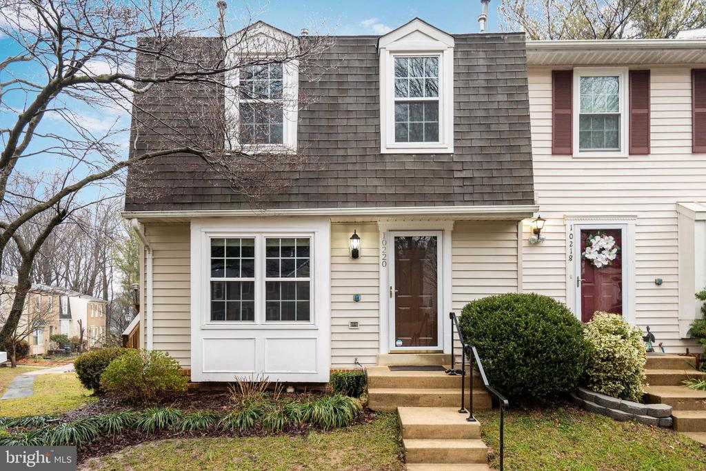 Beautiful END-UNIT townhouse (one of the bigger units in the neighborhood,) WALK-OUT FINISHED BASEMENT, FENCED back yard with brick patio, large NEWER DECK in the main level perfect for entertaining. NEW (2019): WINDOWS, two SLIDING DOORS, and all interior doors.  New A/C (2019) and new hot water heater (2019.) Stainless steel appliances (Refrigerator 2019.) Kitchen granite countertop.  Hardwood floors on the main level, new title flooring in basement, new carpet, and fresh neutral paint throughout. Two assigned parking spaces (#112) and plenty of street parking. A host of other conveniences nearby, including grocery, dining, shopping and the Burke Farmers Market. Commuting options abound with the nearby VRE, Fairfax Connector bus lines (direct line to the Pentagon!), George Mason University, and quick access to 495 or the Fairfax County Parkway. Association community offer: community trails, 5 swimming pools, 7 tennis courts, pickleball, tot lots and community centers, you can find more playgrounds, picnic areas, fishing and trails at nearby.  Fairfax County schools/highly rated Robinson pyramid.