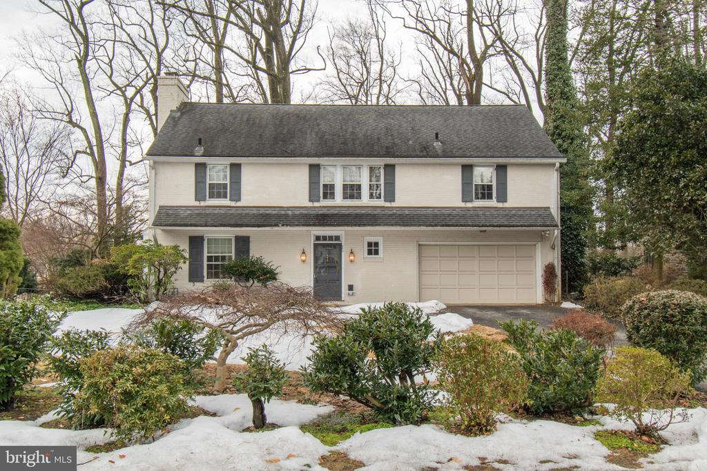 """Great brick colonial on an beautiful street in the much sought after area of Wynnewood. As you enter the home there is a large, gracious Entryway with architectural features such as curved doorways, 6 panel wood doors with brass hardware and gleaming hardwood floors. The Living Room has a wood burning fireplace, beautiful built-ins and French Doors  leading to a heated Sunroom with wall to wall windows and an outside exit to a patio and the back yard. French Doors on the other side of the Sunroom lead to a spacious Dining Room with bay windows and  views to the outside. The Kitchen is eat-in and has a pantry, stairs to the basement ( there is a second staircase to the basement in the hallway) a back staircase and an exit to the outside. In the hallway one of the closets open up to reveal a bar and that is also where a safe is located .To the left of the Entryway there is a Powder Room, inside access to the 2 car Garage and 2 separate coat closets. The second floor has a wide landing and one side leads to the Master Suite with a walk-in closet plus an additional large closet, full bathroom and many windows which allow natural light. The hallway has additional storage space for linens and other items plus there are 3 additional bedrooms and a newly renovated hall Bathroom. For super convenience the Laundry with a full sized washer and dryer plus sink are on this level.  There is a regular staircase that lead to a large floored  attic with attic fan and cedar closet. The basement is full and there is plenty of space to create whatever additional spaces someone would want. The utilities are here and additionally there is a separate storage room and an outside exit. Move in and enjoy everything this house and neighborhood have to offer. Close to award winning Lower Merion  schools, parks, transportation, shopping, center city Philadelphia and King of Prussia. You can really have it all! This house is being sold in"""" As Is"""" condition. Buyers are encouraged to do inspection"""