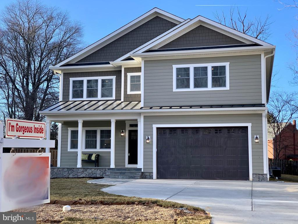 "Nestled in a quiet cul-de-sac, this state of the art craftsman style 5 bedroom 4.5 bathroom is move in ready  just in time for Spring! Exceptional features and finishes throughout this stunning 3 level home, 6,007 SQFT of FINISHED living space, delivering the perfect use of living space to work and school from home where modern elegance meets quality construction. Hardwood floor throughout the main level and the second level, abundant sunlight throughout, Andersen windows, recessed LED lighting and the 9"" high ceiling on all 3 floors, fully finished basement, are a few of the aspects you will love about this home. The gourmet kitchen features on trend white cabinetry and upgraded granite countertop. The oversized island is a chef's dream and the open floor plan is perfect for entertaining. The master bedroom suite boasts an extensive his-and-hers walk-in closets, as well as dual sinks. The modern   deck and patio is ideal for alfresco dining. The lower level has its own bedroom and full bathroom, two walkout access for extra privacy and wet bar for entertaining. Location is a commuter's dream located within 3 miles from the shopping & dining at the Mosaic District. Minutes to the new Whole Foods market! It is also less than 5 miles of the West FallsChurch & Dunn Loring-Merrifield Metro Stations, several major bus routes, in between two major airports: DC A and IAD.  Less than 10 minutes to Tysons corner, Amazon new HQ2 in Arlington and 15 minutes to DC ! Easy access to I-495, I-66, Route 50, HOV Lane."