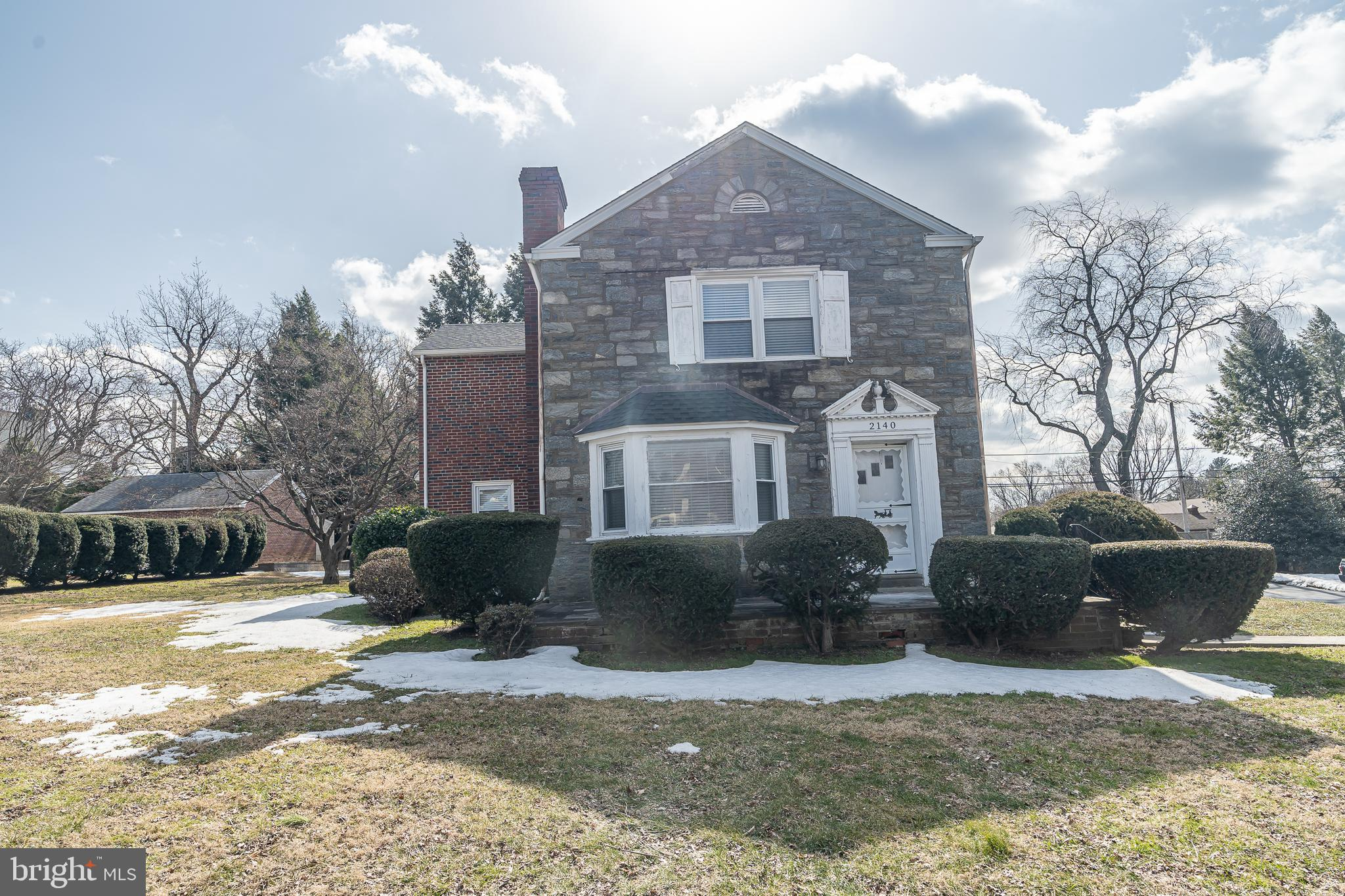 Welcome to 2140 Haverford Road  !  This property is a large stone/ brick colonial  style home and has  been owned by the same family since it was built in 1947.  At almost 2300 square feet  you will see that all of the rooms are a good size. And the outdoor spaces are large as well.  There is a 2 car detached garage and all situated in the Wynnewood section  of Haverford Township. The living room  is bright with nice windows and a fireplace  and opens to large dining room.  There is an  eat-in kitchen and a first floor den. The second floor consists of a master bedroom with bathroom ,  3 additional bedrooms and a hall bathroom.  The house has hot water heating and central air.  The basement has lots of potential as it was used in the past as a recreation area with an office and work area and outside exit .  The house is easy to show come and make it yours !
