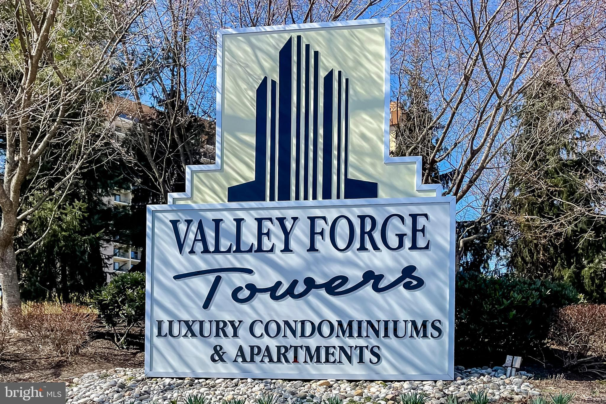 This beautifully renovated condo in Valley Forge Towers has everything you're looking for! This corner unit boasts 3 bedrooms, updated kitchen, and a highly desirable open concept floor plan! Kitchen updates include granite countertops, stainless smart-tech enabled double convection oven, convection microwave combo, and large island. You'll enjoy expansive views and glorious sunsets over Valley Forge Park during meal prep. The spacious and bright living and dining areas allow plenty of room for entertaining, as well as the extra-large private balcony, where quiet evenings with a book and glass of wine await. Gleaming, walnut Pergo flooring extends throughout the entire main living area and into the generously-sized bedrooms. The main bedroom offers a double closet as well as two additional closets for plenty of storage, additional access to the balcony, and updated main bath. The ample hall bath features the conveniently located washer and dryer. There are two water heaters, both newer, and more than enough storage with an extra entryway closet, balcony closet, and additional storage room nearby. This community features an array of amenities such as indoor/outdoor pool, fitness center, playground, and tennis, volleyball, and basketball courts, all included with your HOA fee! Close to the King of Prussia mall and countless options for fine and casual dining, Valley Forge Park, and easy access to Rts. 76, 422, and other major roadways! This is one you won't want to miss!