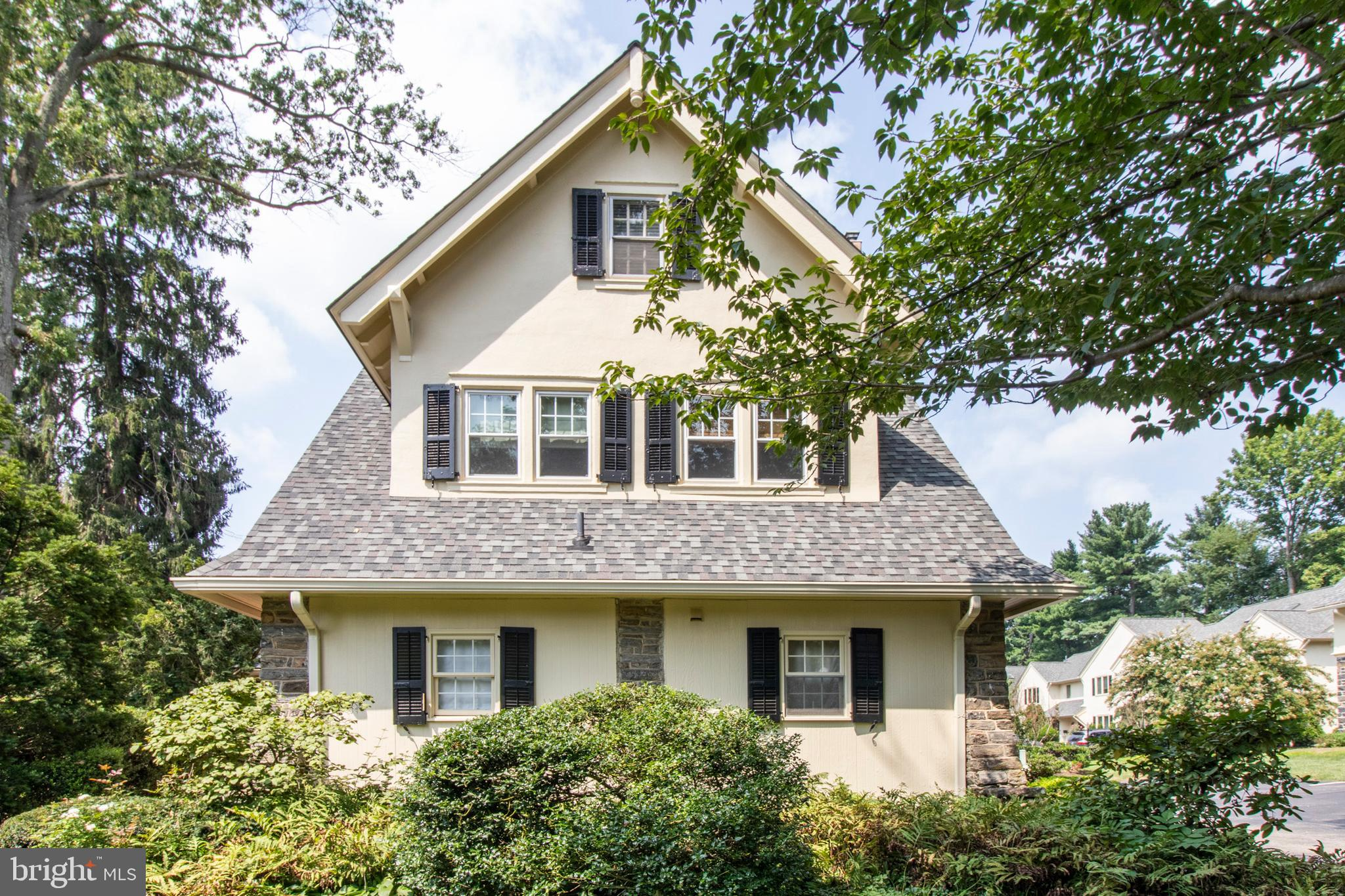 Attention Investors or Owner Occupants, this 2BR, 2BA Penthouse condominium is located in the affluent Bryn Mawr section of the Main Line close to Bryn Mawr Hospital, and in the desirable Radnor School District. It is walking distance to shops, restaurants, and the R5 train line with a walkability score of 82 where most errands can be accomplished on foot. The property offers approximately 1300 sq ft of living space and is full of 1930's charm melded with modernity and style. From the moment you walk through the door, you will feel the comfort and convenience that will make you happy to call this condominium home. You will instantly take notice to the warm hardwood floors and calming natural light throughout this property. Enter the foyer area which leads to an updated kitchen with beautiful white cabinetry, stainless steel appliances, and granite countertops. There is large living area, bonus room which can be used as a library/office, den, or possibly a 3rd bedroom, a private terrace and two nice sized bedrooms with convenient access to the two tile baths. There are two convenient dedicated tenant parking spaces; ample guest parking; private washer/dryer in the unit; extra storage in the basement; and so much more. You really must see this home in person to feel the intimacy and all the special features of both the property and the Montrose Square Community. This condo is competitively priced under market value. Pet Friendly! One authorized dog or cat is allowed.