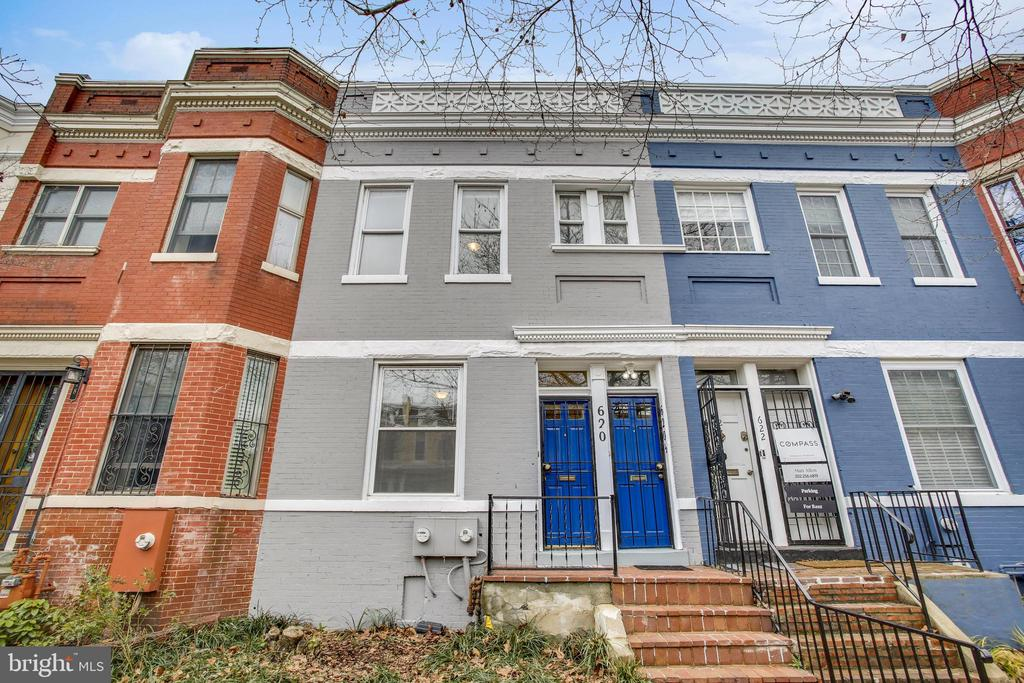 Oh my.  This versatile Capitol Hill stunner delivers on all fronts.  Size does matter - 2350 square feet (not joking) spread out on two massive levels.  Location does matter - 3 blocks to Union Station, 2 blocks to vibrant H Street & tons of retail and in the historic district! This turn-key casa currently is configured as a massive 2 unit with 3/1 up and 2/1 on the main level.  Inside - loads of natural light, (note the window well so even interior bedrooms get light) fabulous flow & oversized rooms.  Live in one & rent the other, easily covert back to a grand single-family home or rent both w/tremendous income.  You choose! House fully updated and meticulously maintained - gorgeous refinished hardwood floors throughout, completely updated kitchens, sparkling baths, upgraded HVAC, freshly painted & so much more.  Deep rear yard, rear decks & parking for 2 to boot.  A very special home indeed.  Hurry & welcome to the Hill.