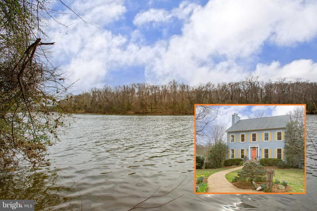 Location, location, location—you are simply not going to find a waterfront property situated on almost 1.5 acres this close to downtown Fredericksburg and the commuter rail station.  How often do you get the opportunity to live on our beloved Rappahannock River?  Welcome home to the  sunshine river house, 506 Leonard Drive, a pleasure from beginning to end. Sunbeams everywhere, this 5 bedroom 4.5 bath home has lots of space for all of your guests. Seller said the views, after all these years, still make her heart skip a beat. There are views from most every room in the home. This 4,128 sq ft home tucked away in a surprising enclave—with complete privacy, stunning views, boat launch area, landscaped grounds, multiple decks, and water views from the majority of windows. Hop in your canoe or kayak, as these owners have done many times, and paddle into town to attend your evening event, then float home under the stars.  Just back from a hot day of boating or swimming? Jump into the outdoor shower before settling in for drinks on the deck just in time for sundown views. The property is filled with entertaining views of wildlife—deer, fox, nutria, beavers, eagles, ducks, herons, geese, kingfishers, turkeys and many other types of birds. Being this close to town and on the water is the best of all worlds.  Did I mention the guest suite on the fourth floor of this spacious house is a complete self-sufficient guest quarters with its own bathroom, kitchen, and stunning views from a row of 13 windows. The current owners have used this as an air B&B  space for a number of years and it is always in high demand if the new owners are so inclined (website available for viewing).   The house also has 3 fireplaces, gas and wood burning. The roof was replaced in 2015 and has a multi zoned HVAC system. Public water and sewer. Fabulous kitchen area opening to the  sunroom catching all the rays with a door leading to either the large deck or one of the three covered balconies. The colors