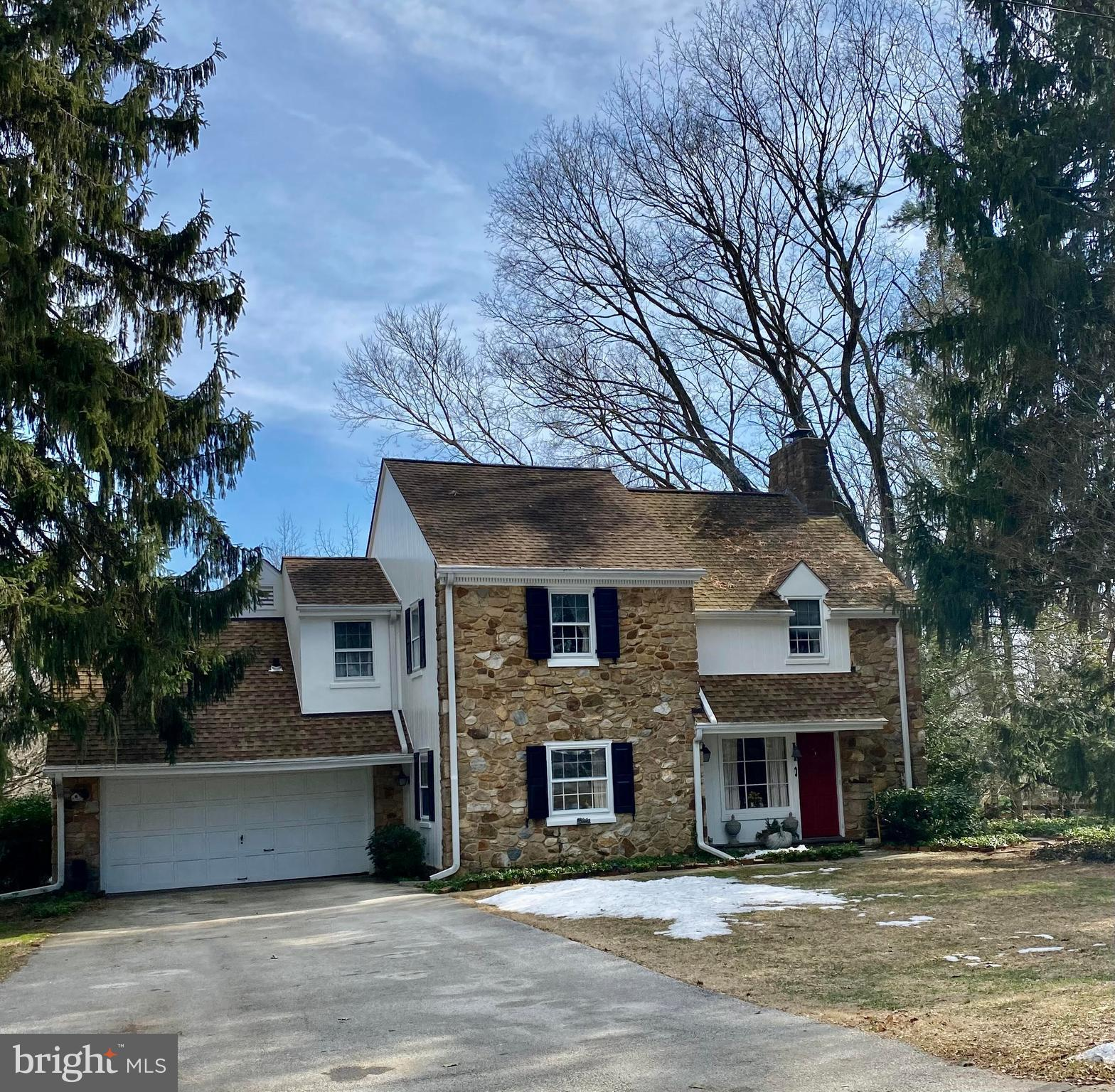 This charming stone colonial in award winning Radnor Township School District is waiting for the next owner to love it and the close knit neighborhood in which is located. Situated amid million dollar homes, the sky is the limit for making this gem your haven. Close to Villanova University, R5 and the 100 trolley, convenience abounds. The cozy formal living room has a wood burning fireplace and french doors to a private screened in porch. The Formal Dining room with deep window sills leads into the kitchen which leads into a bright family room with a picture window overlooking the private wooded lot. The private patio is ideal for outdoor dining. This is a 3/4 bedroom cottage with three full baths and one half bath. The landscaping has been lovingly maintained for privacy and the enjoyment of nature.