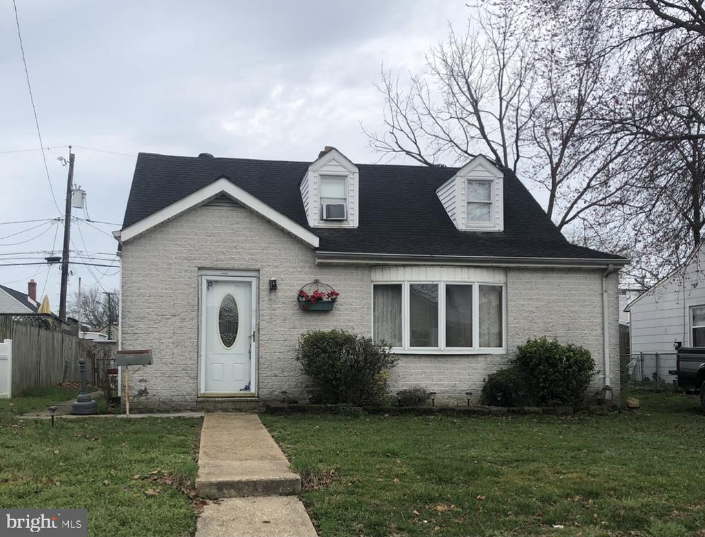 Three bedroom two bath brick front Cape Cod with living room, dining room, kitchen and den,  Also laundry room utility room on the main level. Off street parking and an above ground pool in the fenced rear yard. Neighborhood ball fields and playground.