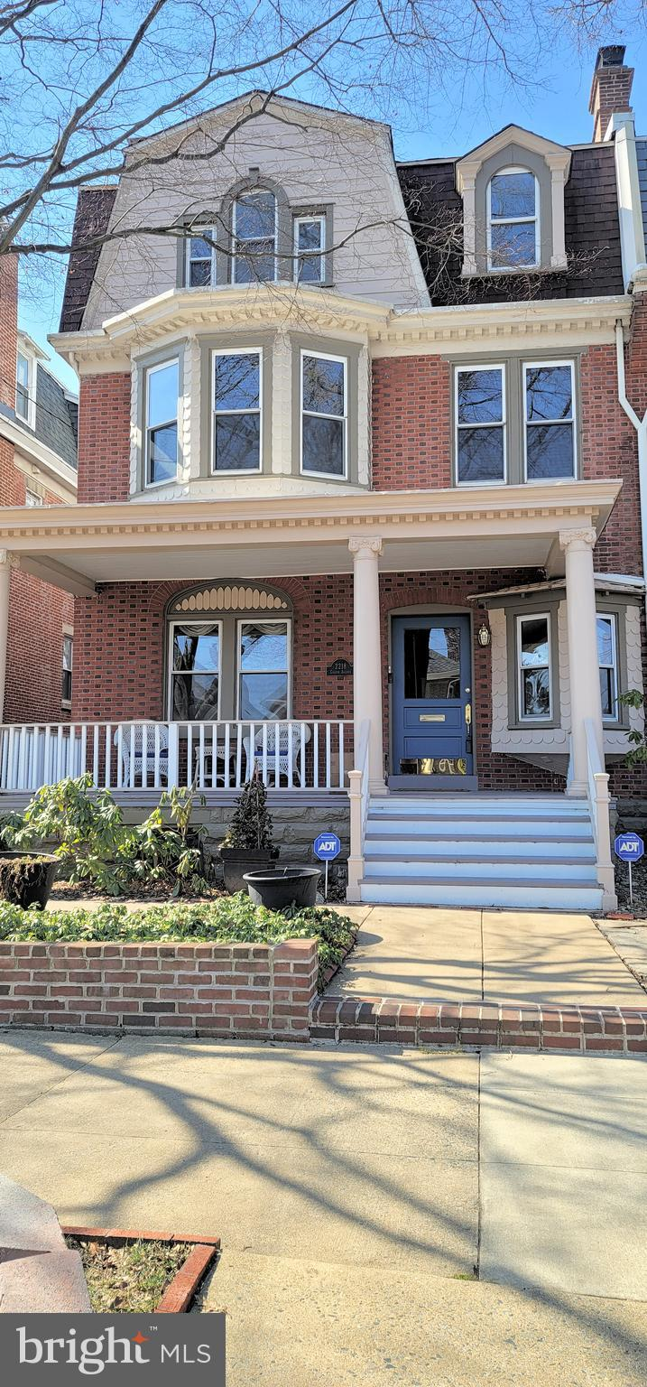 A classic Highlands three-story impeccably maintained semi-detached 5 bedroom, 2.5 bath home just blocks away from Rockford Park and across from  the Delaware Art Museum. The entry way captivates you with a center hallway,  attached built-in shelves and wet  bar,  hardwood floors and a stunning turned staircase with crown molding.   The living room features French doors and a gas fireplace with mantel.  The formal dining room with sliding doors to the outside deck overlooks the magnificent backyard that is your private oasis.  It is professionally landscaped and has a second deck in which to enjoy.   The eat-in kitchen,  with sliders also overlooks the gorgeous fenced backyard, also   includes a set of back stairs to the second floor and a powder room at the furtharest  end of the kitchen.   There is also  recessed lighting,  plenty of upgraded cabinets and drawers,  granite countertops and a double sink.  On the second level there are three bedrooms with plenty of closet space and  one full tiled bath. The third level is currently being utilized as the owner's  primary suite.  The other expansive bedroom on this level is being used as the owner's offices.  The renovated master bath is classy and stately with beautiful  shelving and double sinks.  The second and third floors of this amazing home offer plenty of options for their uses.    One of the most wonderful  features of the home is found when you arrive and admire the classic front porch with dentil molding and the mature trees along the city sidewalks.  This home is conveniently located to shopping,  restaurants and all access routes.   What an exciting home to live in!