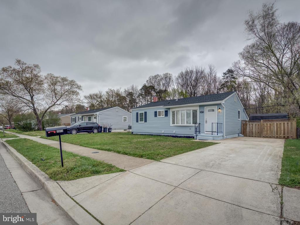 Totally renovated single family in Glen Burnie. Excellent location near major roads . Beautiful kitchen with 42 inch cabinets, quartz and stainless steel appliances. Hardwood floors, tastefully painted, totally renovated bathrooms, new windows, new HVAC ,  upgrading plumbing, new lighting fixtures , new roof shingles and siding. Basement has a bedrooms and a bathroom. Gorgeous huge flat back yard.